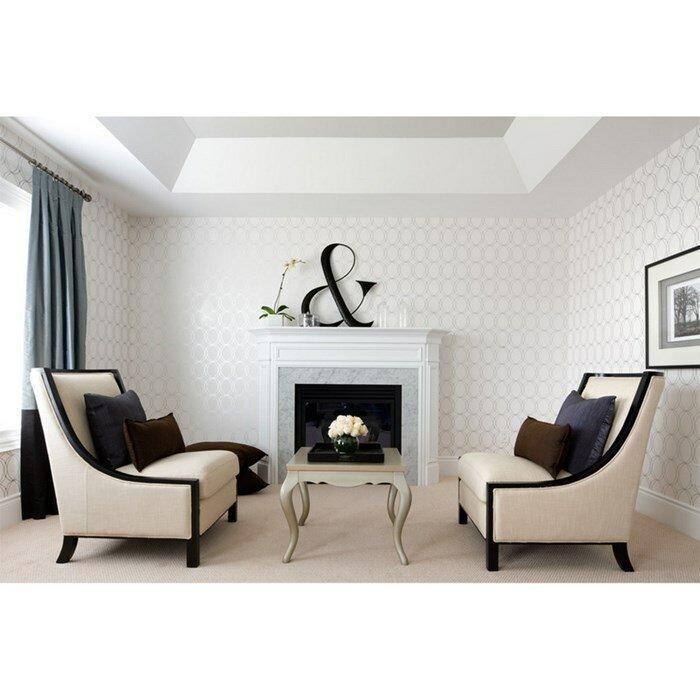 Graham brown darcy pearl 33 39 x 20 5 geometric wallpaper for Wayfair bathroom wallpaper