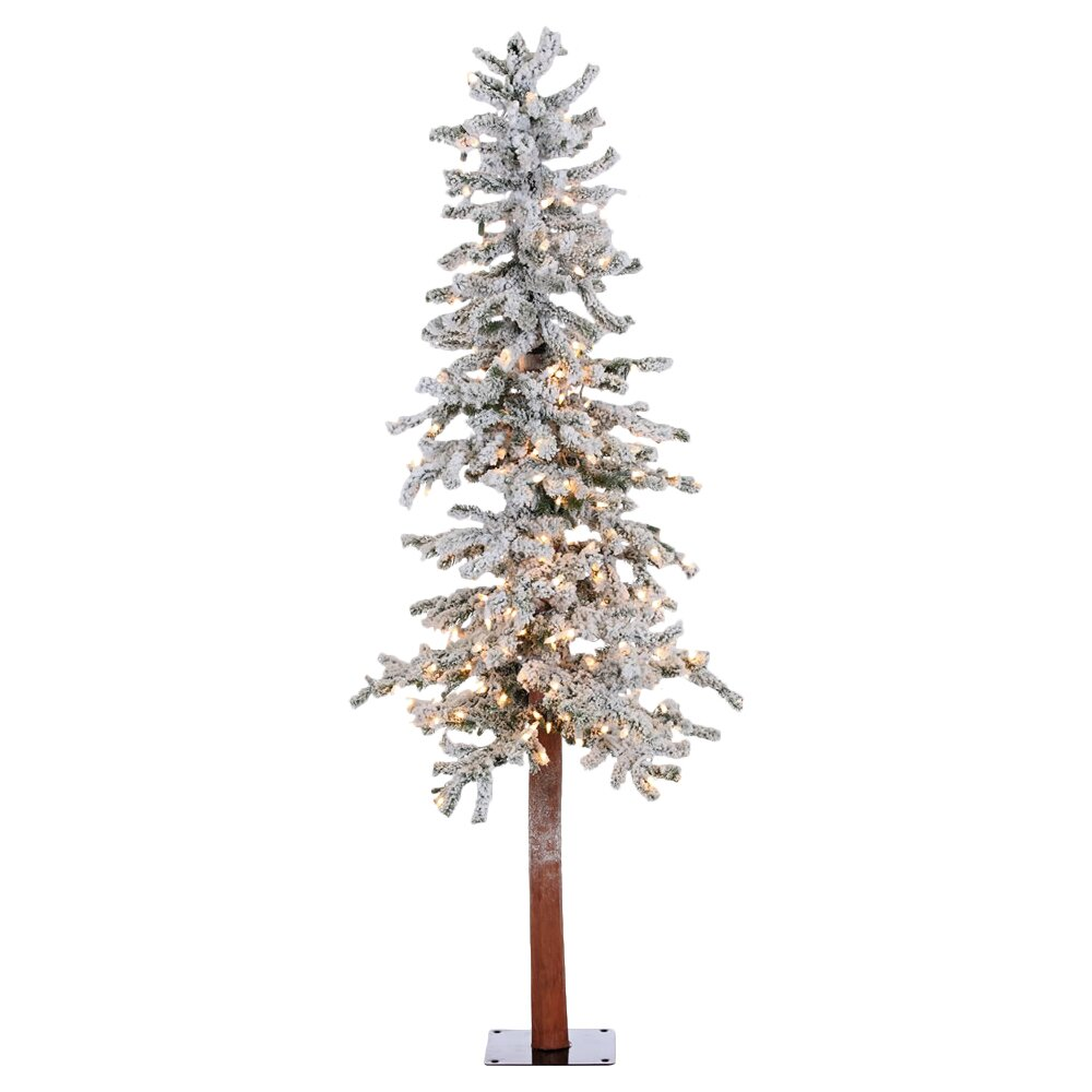 Vickerman 5' Flocked Spruce Alpine White Artificial ...