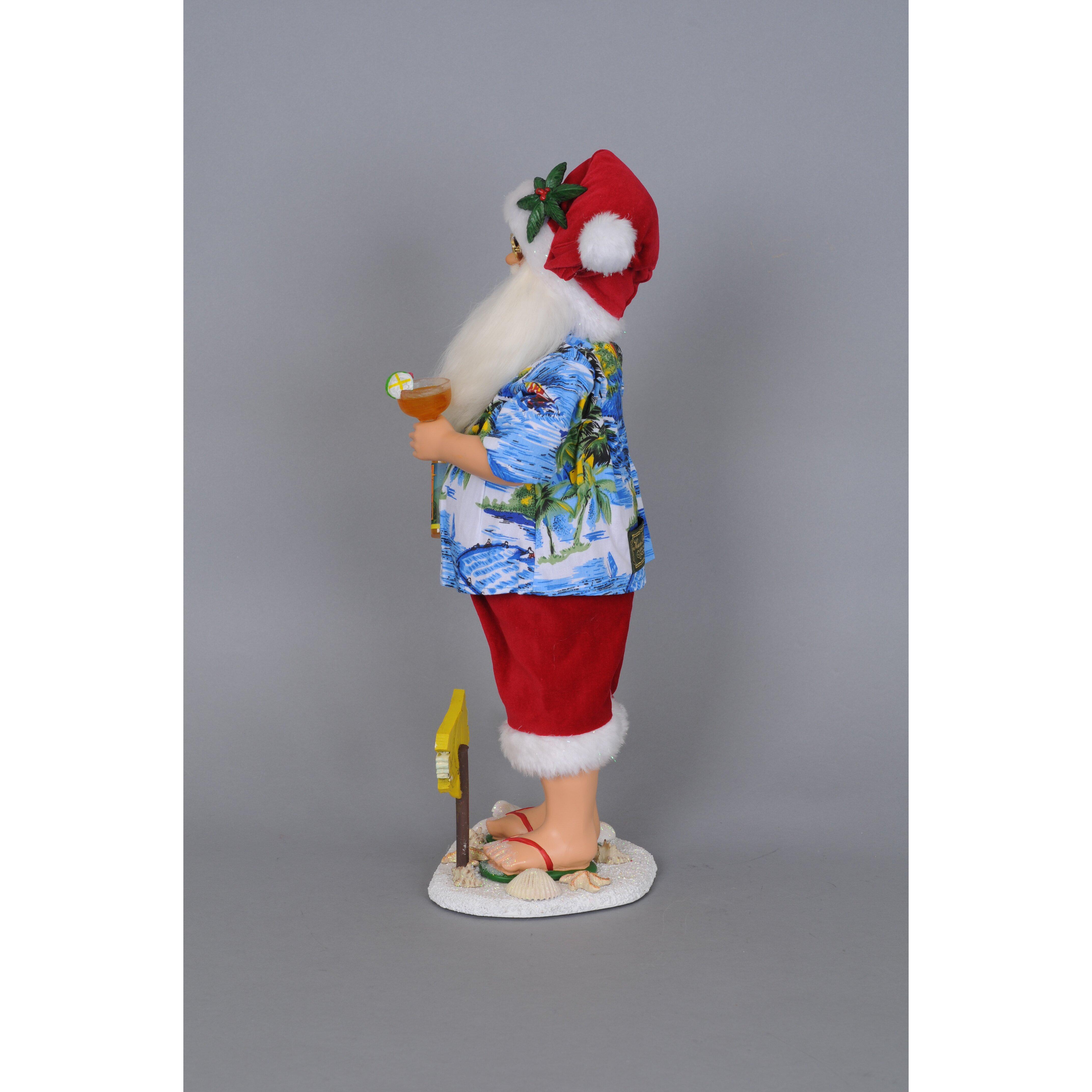 Karen didion christmas margarita beach santa figurine