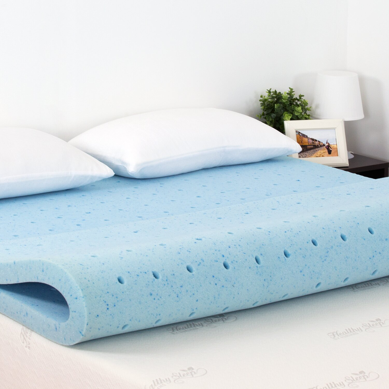 "Healthy Sleep 2"" Cool Gel Ventilated Memory Foam Mattress ..."