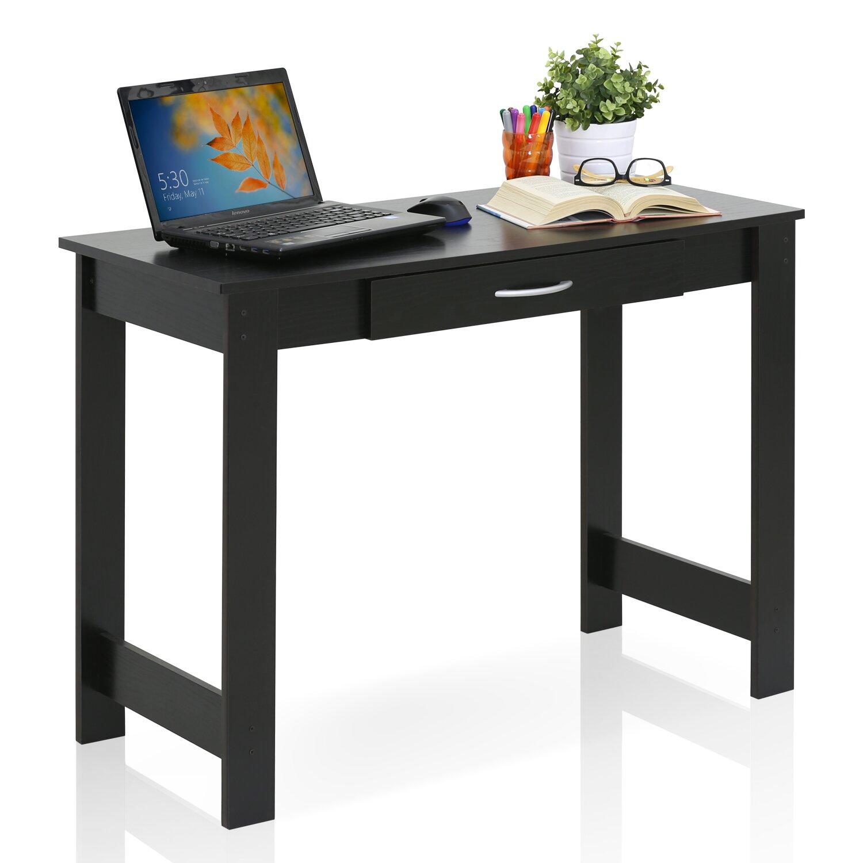furinno jaya writing desk with drawer reviews wayfair. Black Bedroom Furniture Sets. Home Design Ideas