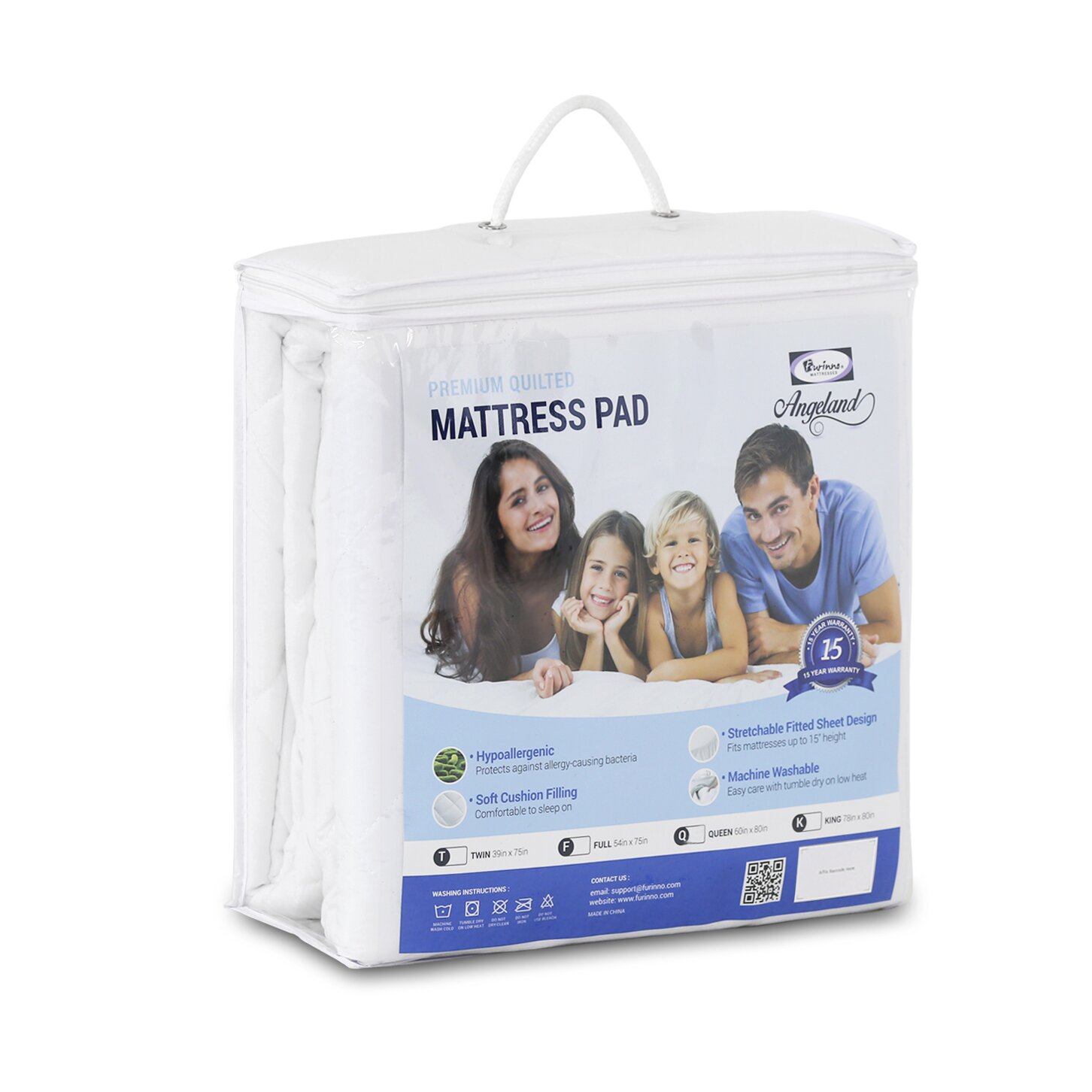 Furinno Angeland Quilted Mattress Pad & Reviews