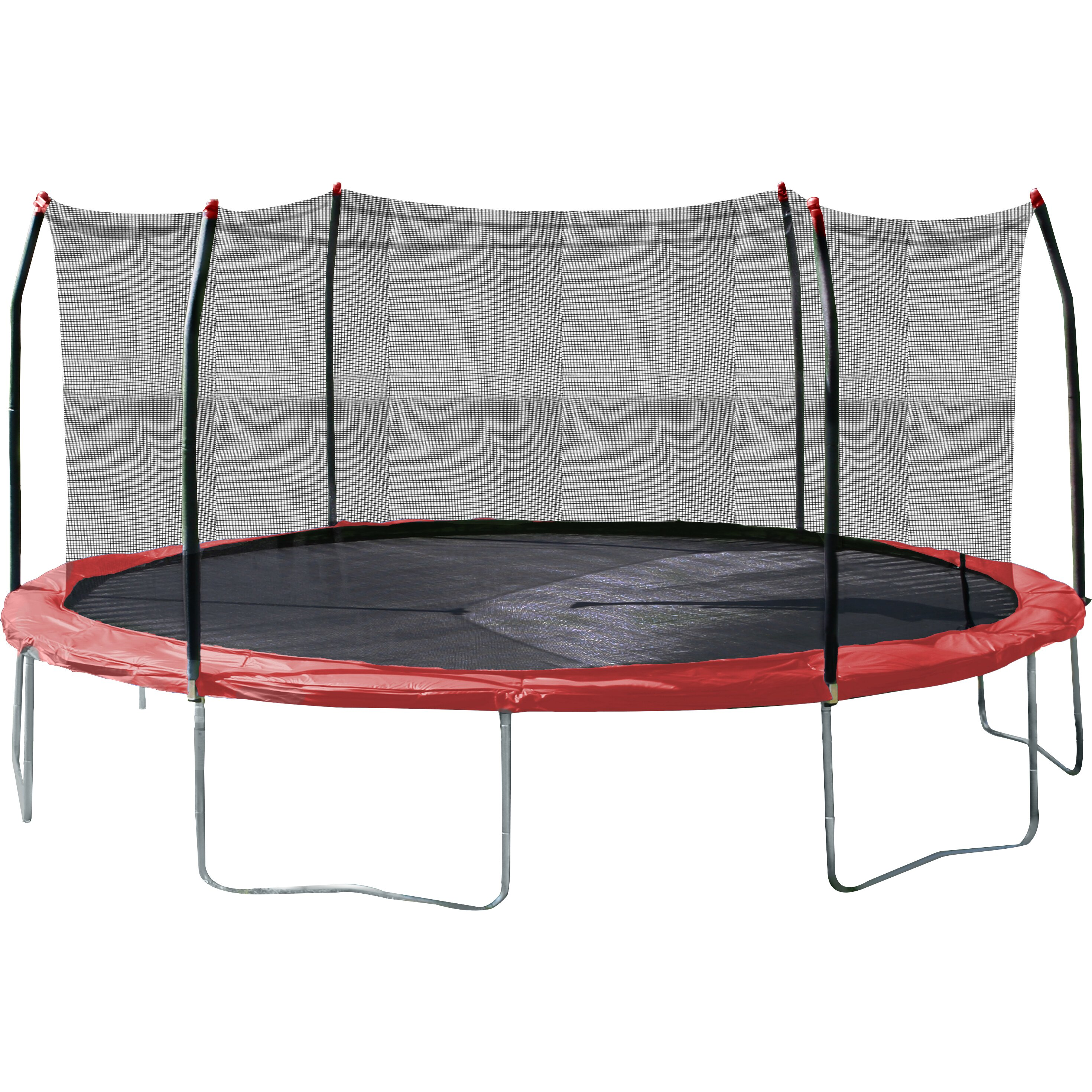 17 X 15 Oval Trampoline With Safety Enclosure: 17' X 15' Oval Trampoline With Safety Enclosure