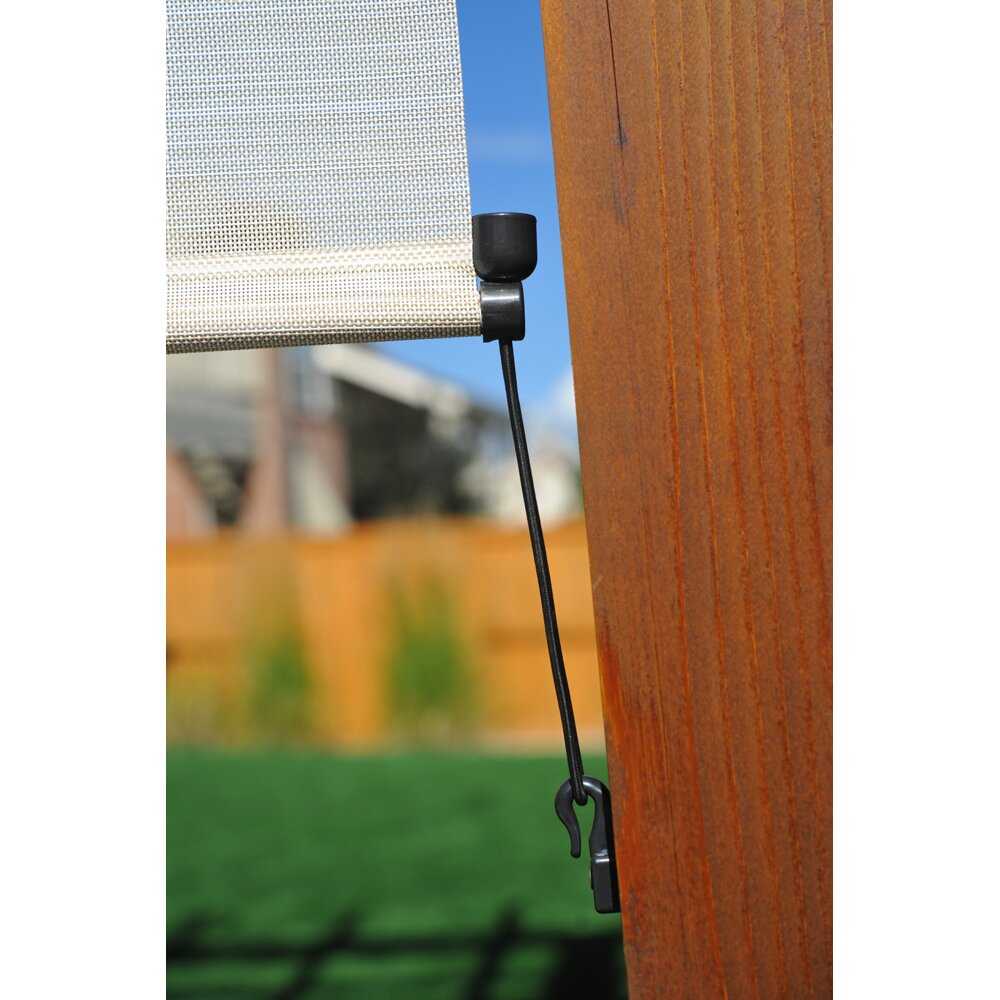 Outdoor Cord Operated Solar Roll Up Shade Wayfair