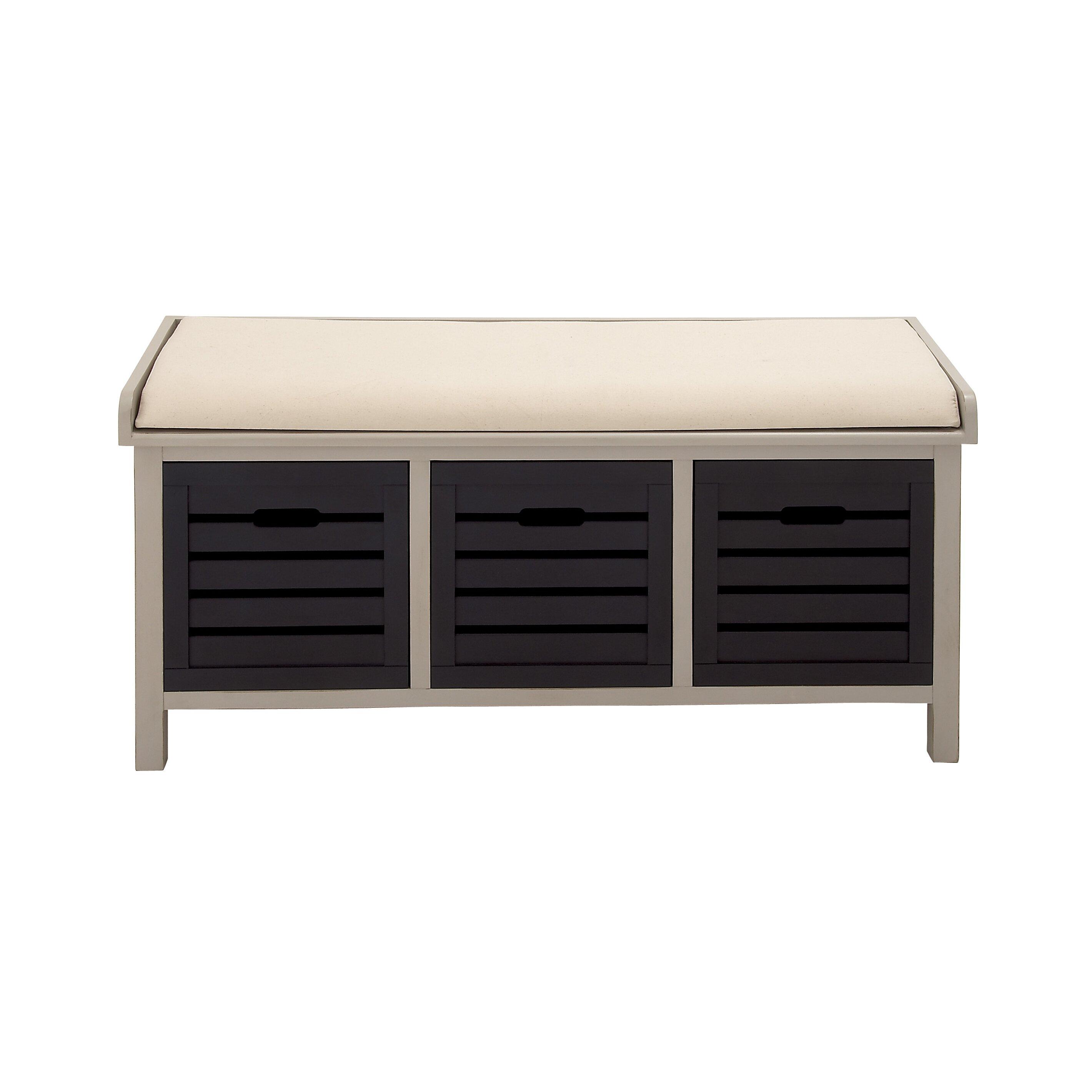 wood storage bedroom bench wayfair. Black Bedroom Furniture Sets. Home Design Ideas