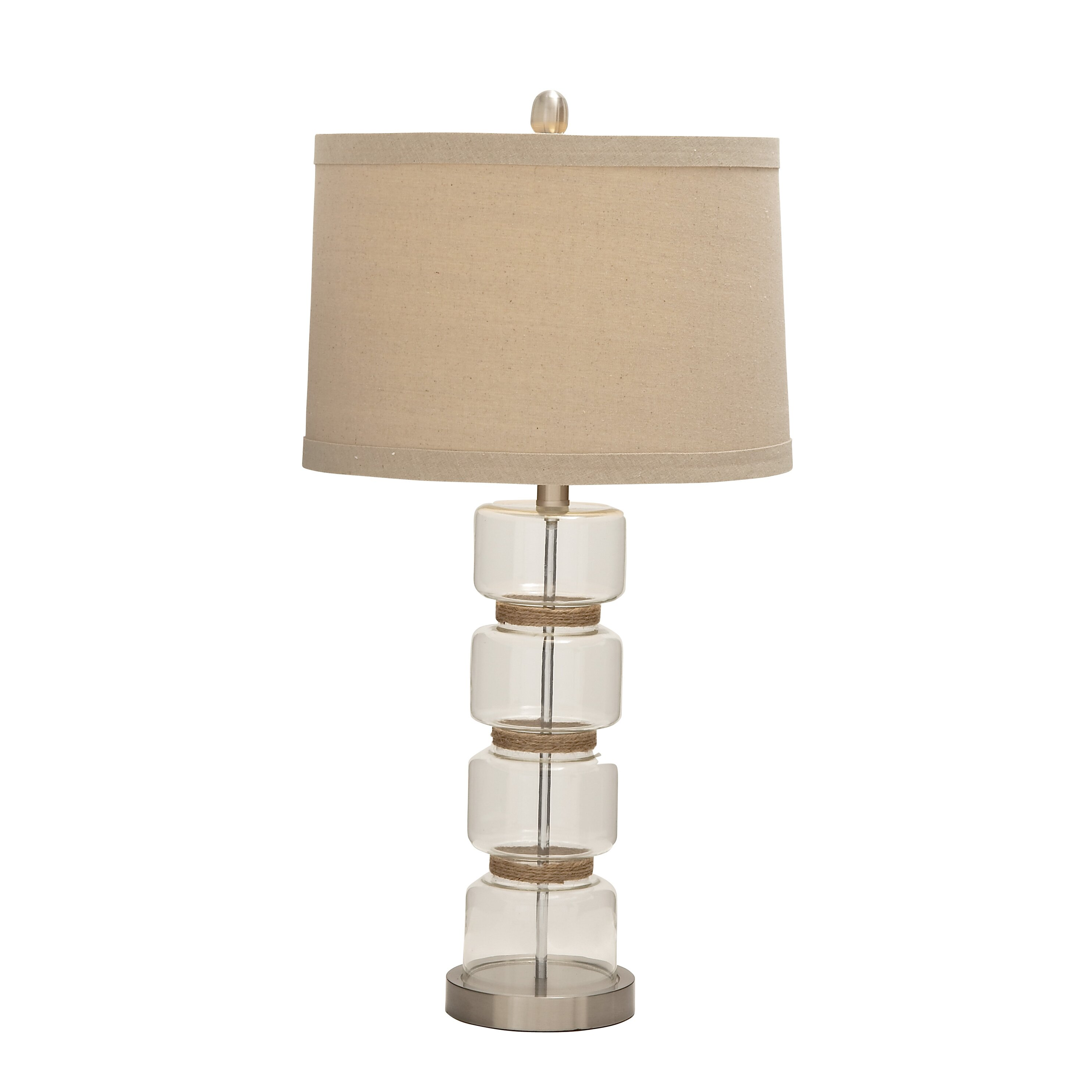 Jute Ceiling Lamp Shade: Woodland Imports Nature Themed Splendid Glass Metal Jute