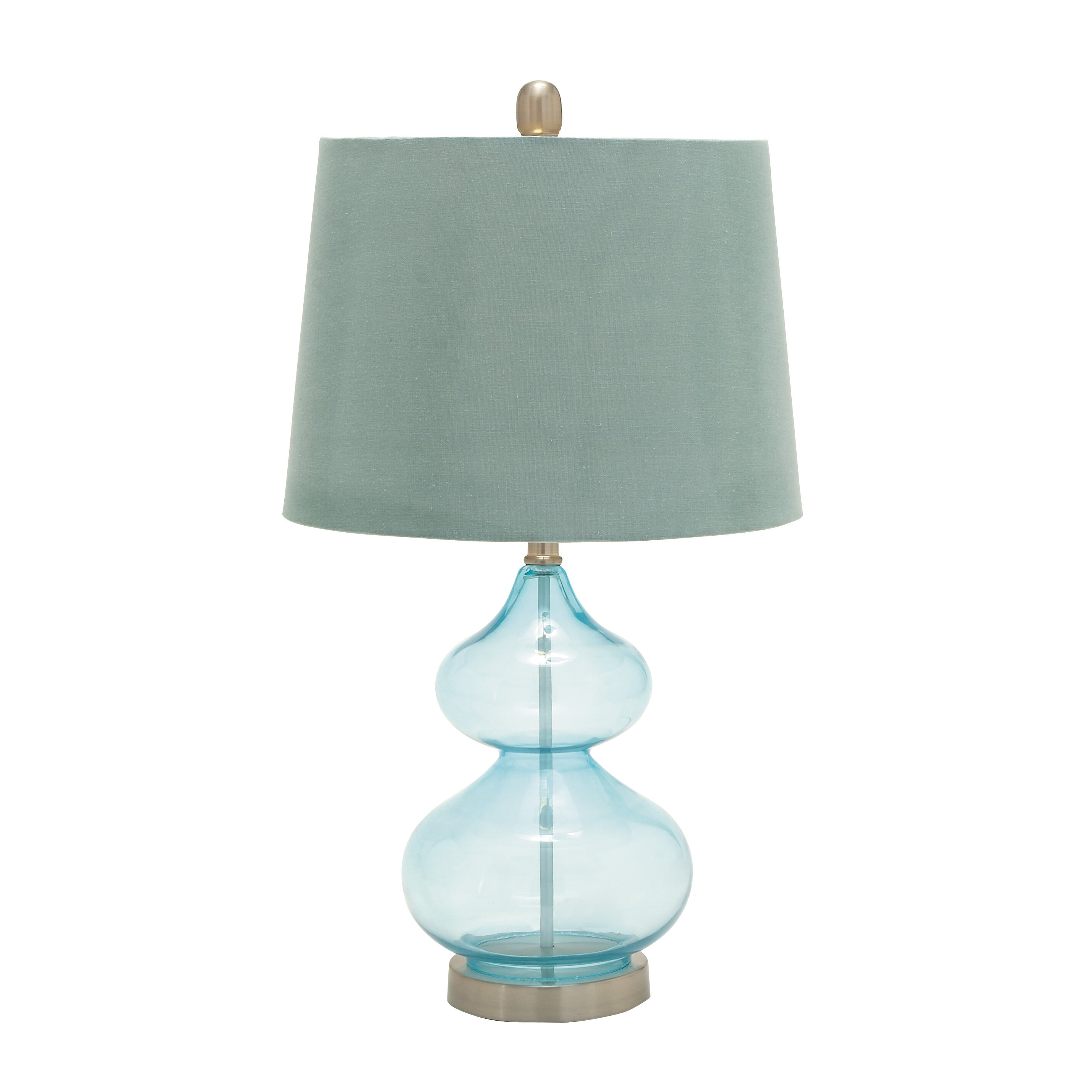 "Delightful Upgrades 25 Creative Bedside Lighting Ideas: Woodland Imports Unique 25"" H Table Lamp With Empire Shade"