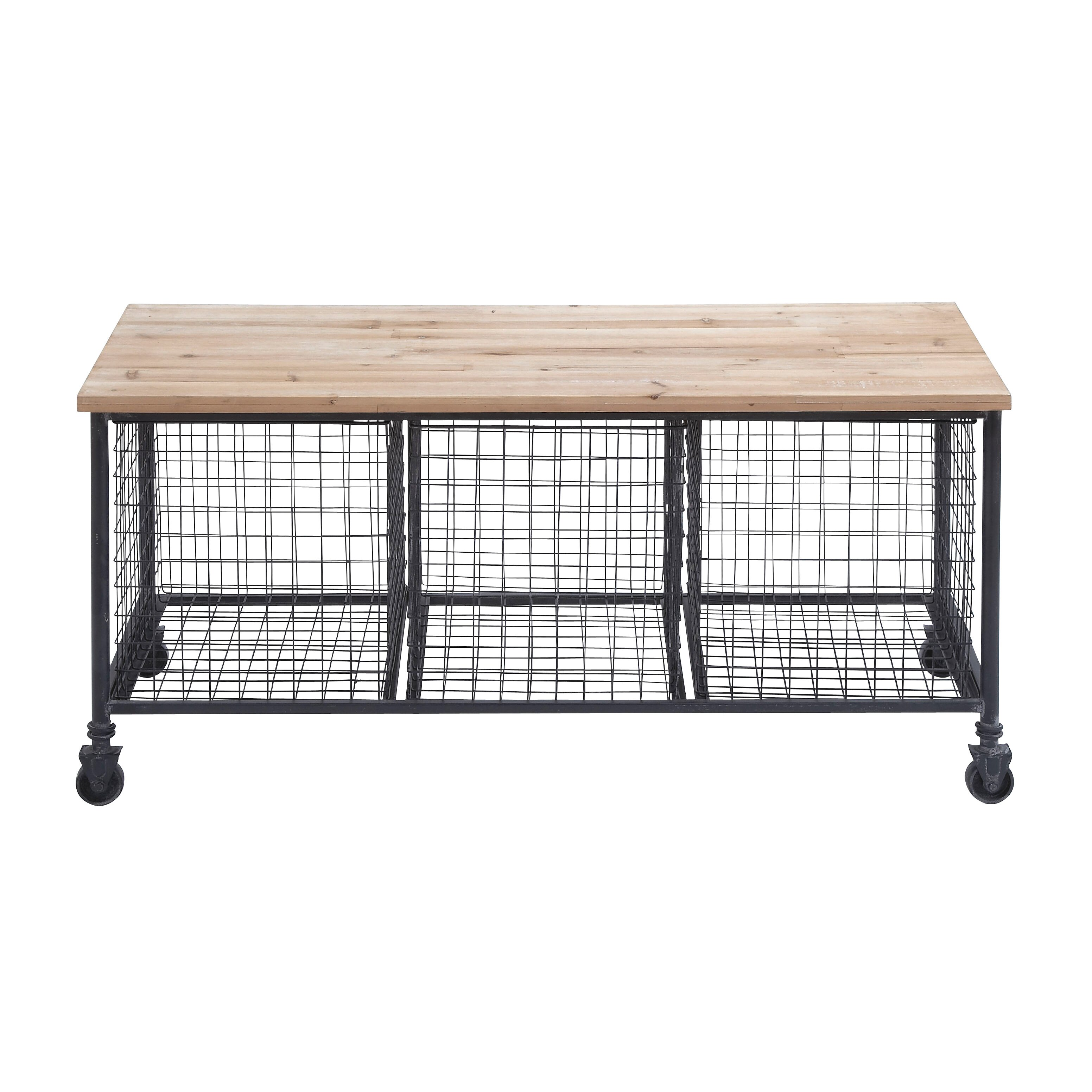 Metal Storage Entryway Bench Wayfair