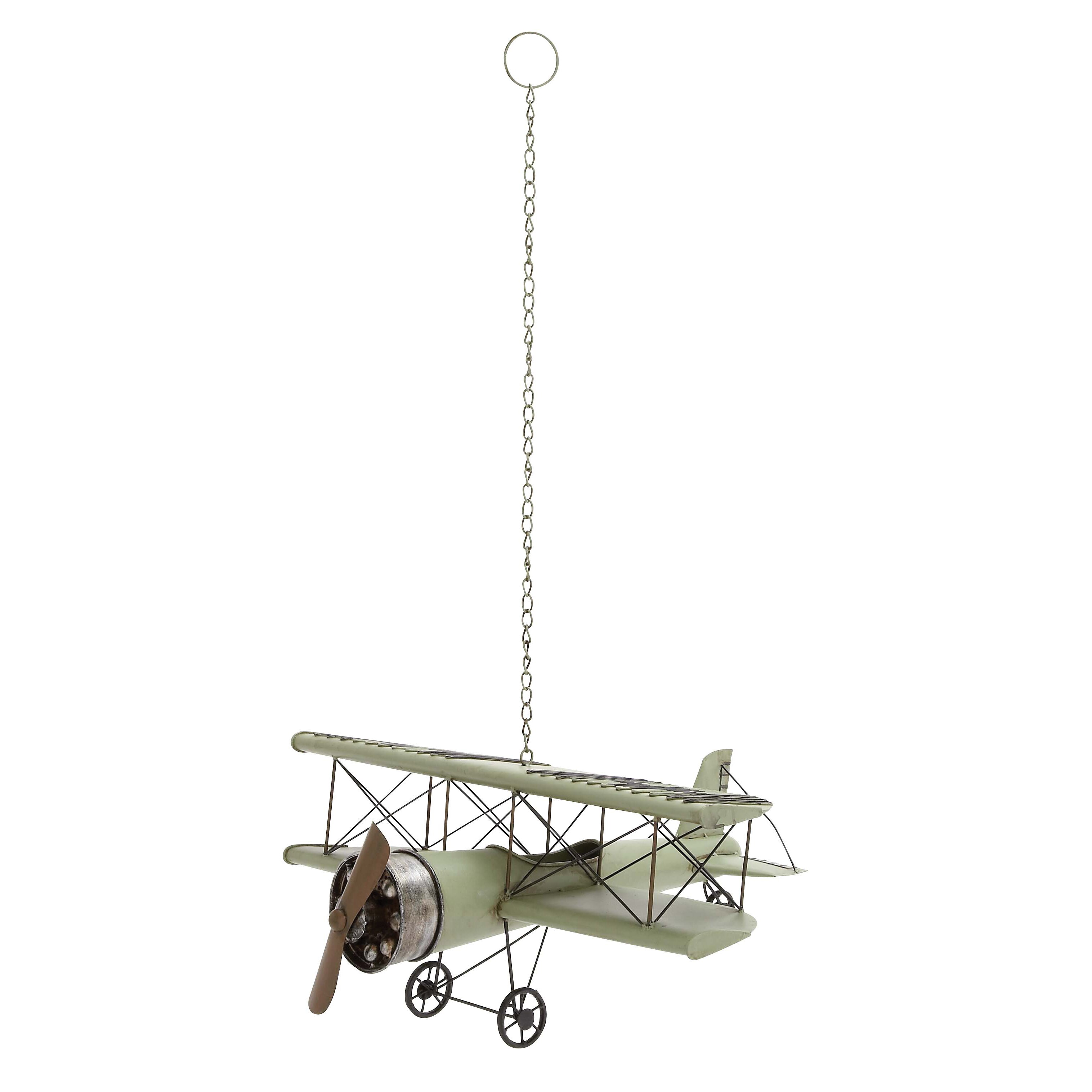 Woodland imports vintage sea bi airplane model sculpture