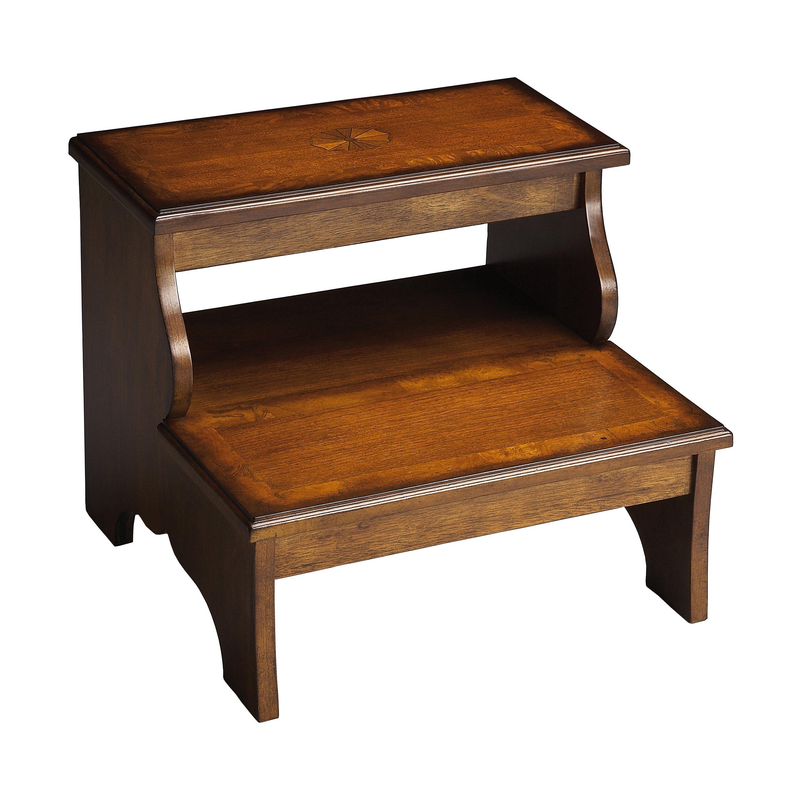 masterpiece 2 step wood step stool wayfair. Black Bedroom Furniture Sets. Home Design Ideas