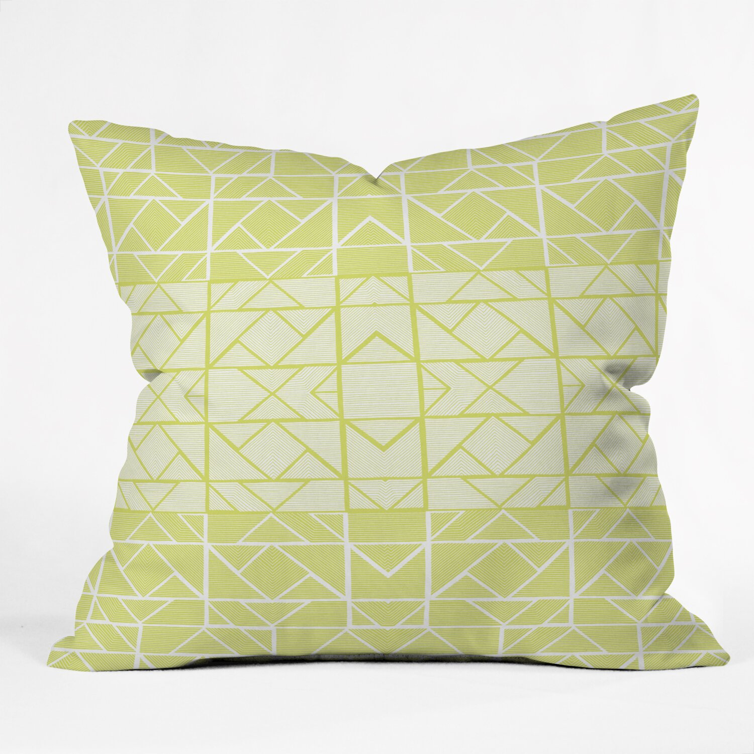 Oversized Decorative Pillow Ideas : DENY Designs Gneural Shifting Pyramids Lemon Indoor/Outdoor Throw Pillow AllModern