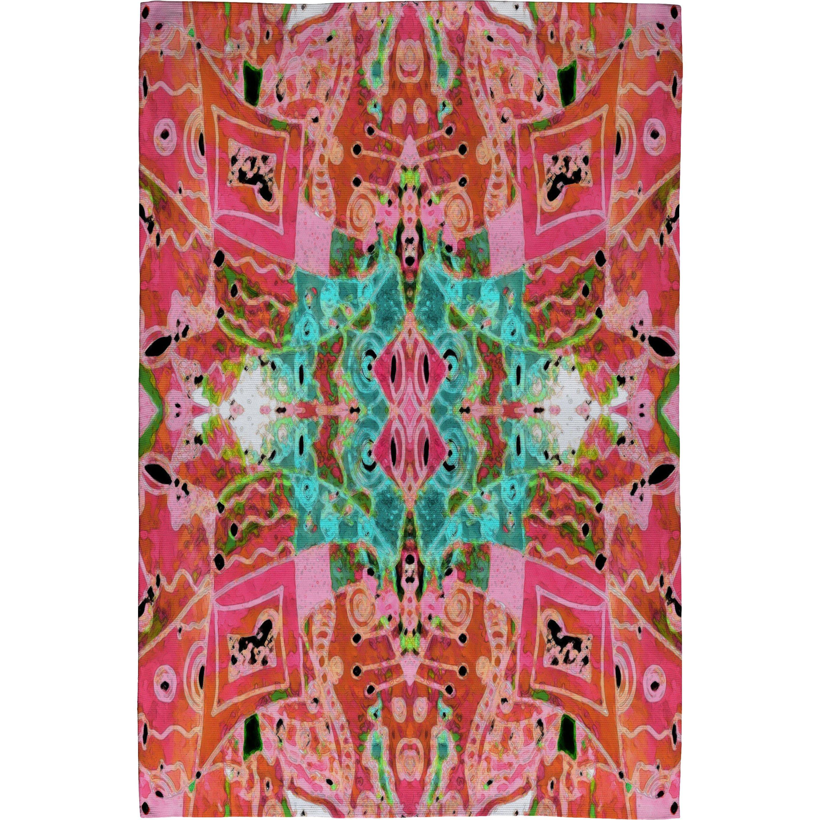 Deny Designs Ingrid Padilla Turquoise Area Rug Reviews: Ingrid Padilla Flora 1 Pink Area Rug