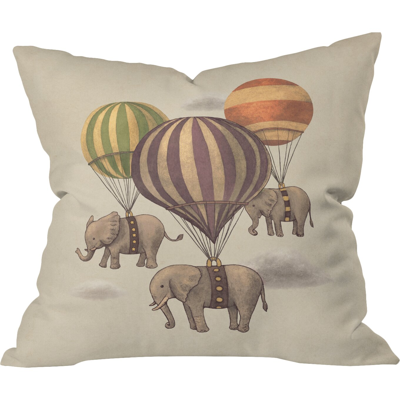 Terry Fan Throw Pillow Wayfair