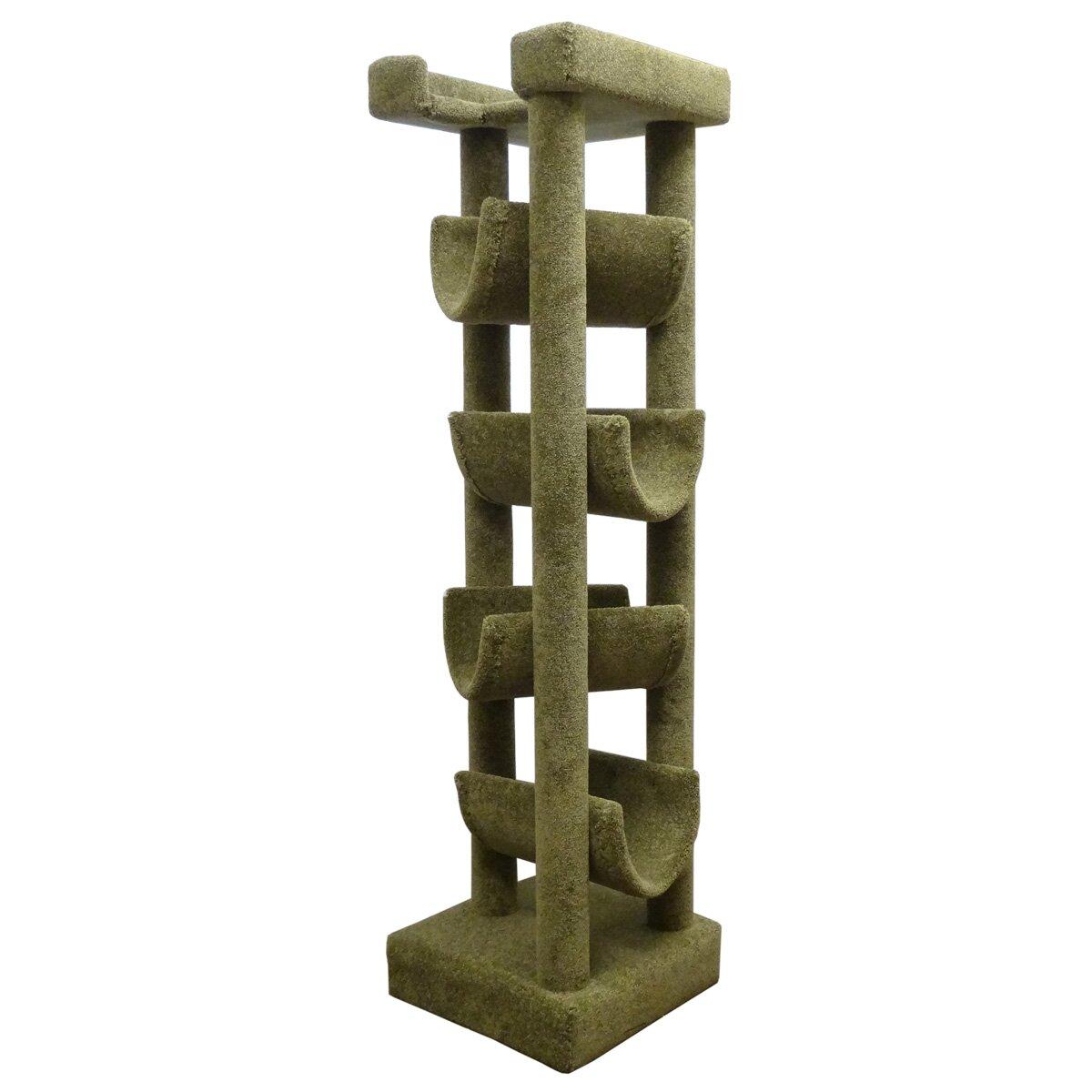 "New Cat Condos 72"" Premier Solid Wood Cat Tree & Reviews   Wayfair"