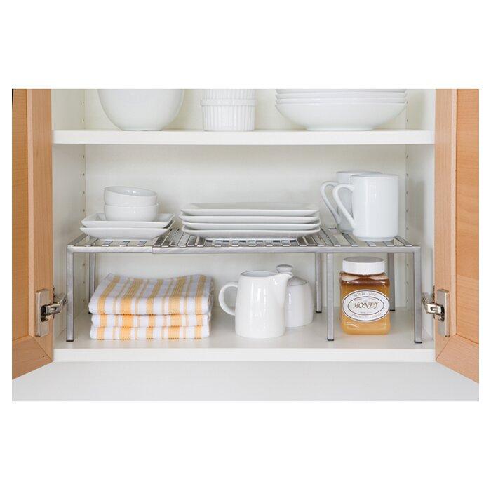 Seville classics expandable kitchen cabinet shelf for Wayfair kitchen cabinets