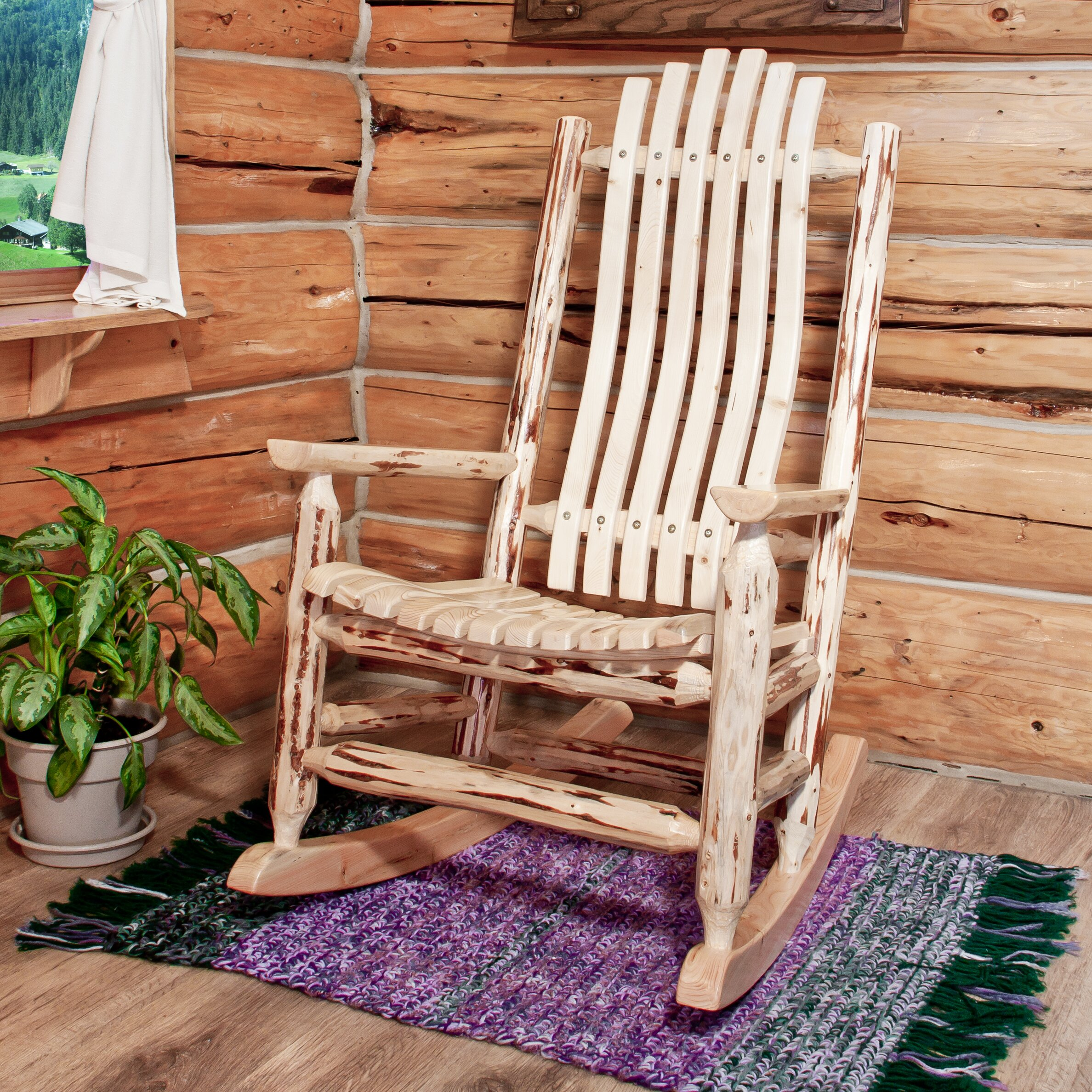 Log Rocking Chairs Inspirations Home & Interior Design