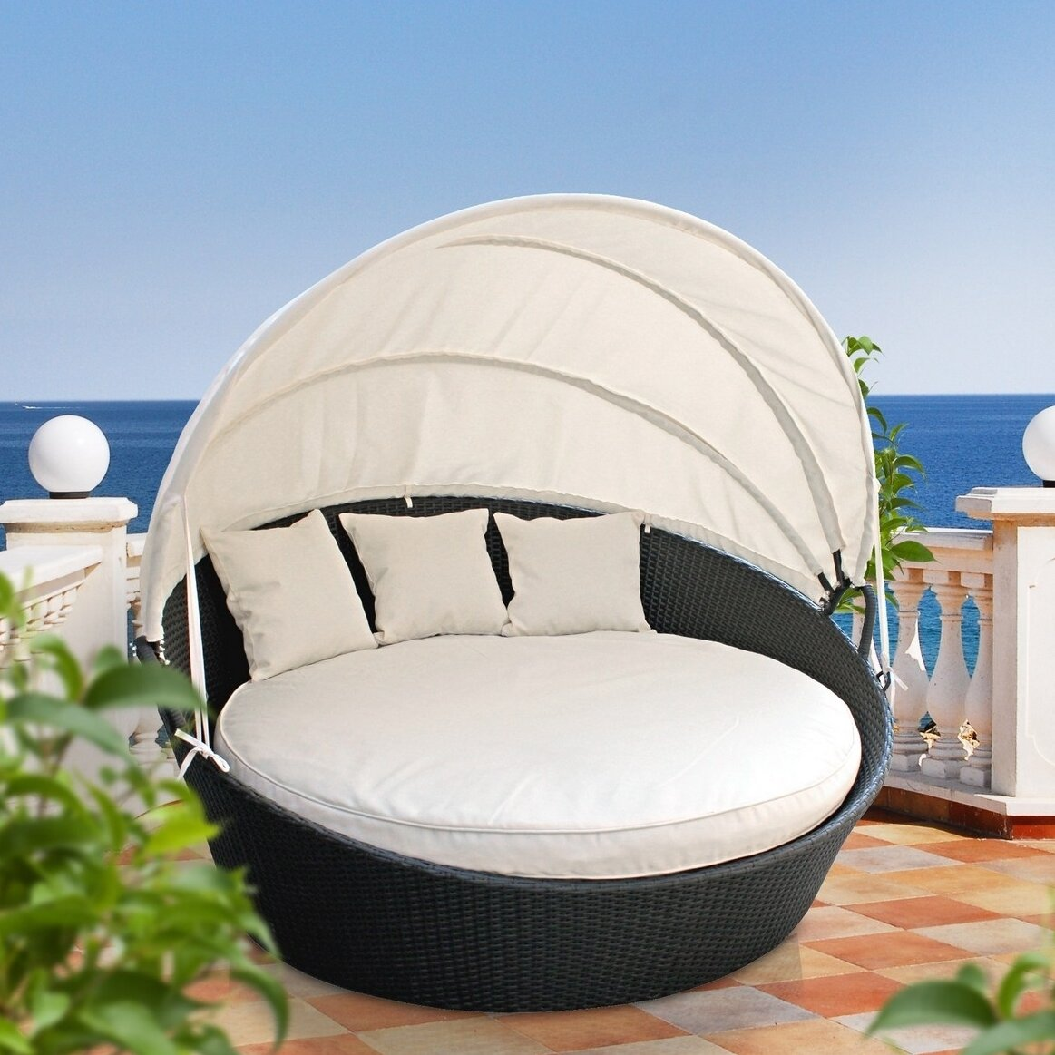 Modway Snooze Canopy Outdoor Patio Daybed with Cushion  : Modway Snooze Canopy Outdoor Patio Daybed WQ6742 from www.wayfair.com size 1163 x 1163 jpeg 273kB