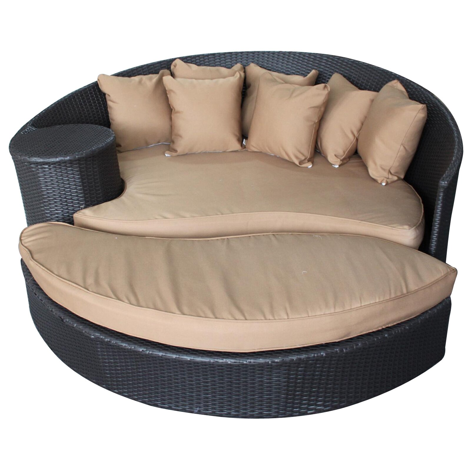 Modway Taiji Outdoor Daybed with Ottoman & Cushion