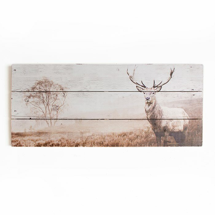 Graham brown wooden visions stag art print on canvas for Decoration murale wayfair