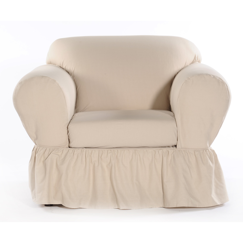 Classic Slipcovers Shabby Chair Skirted Slipcover