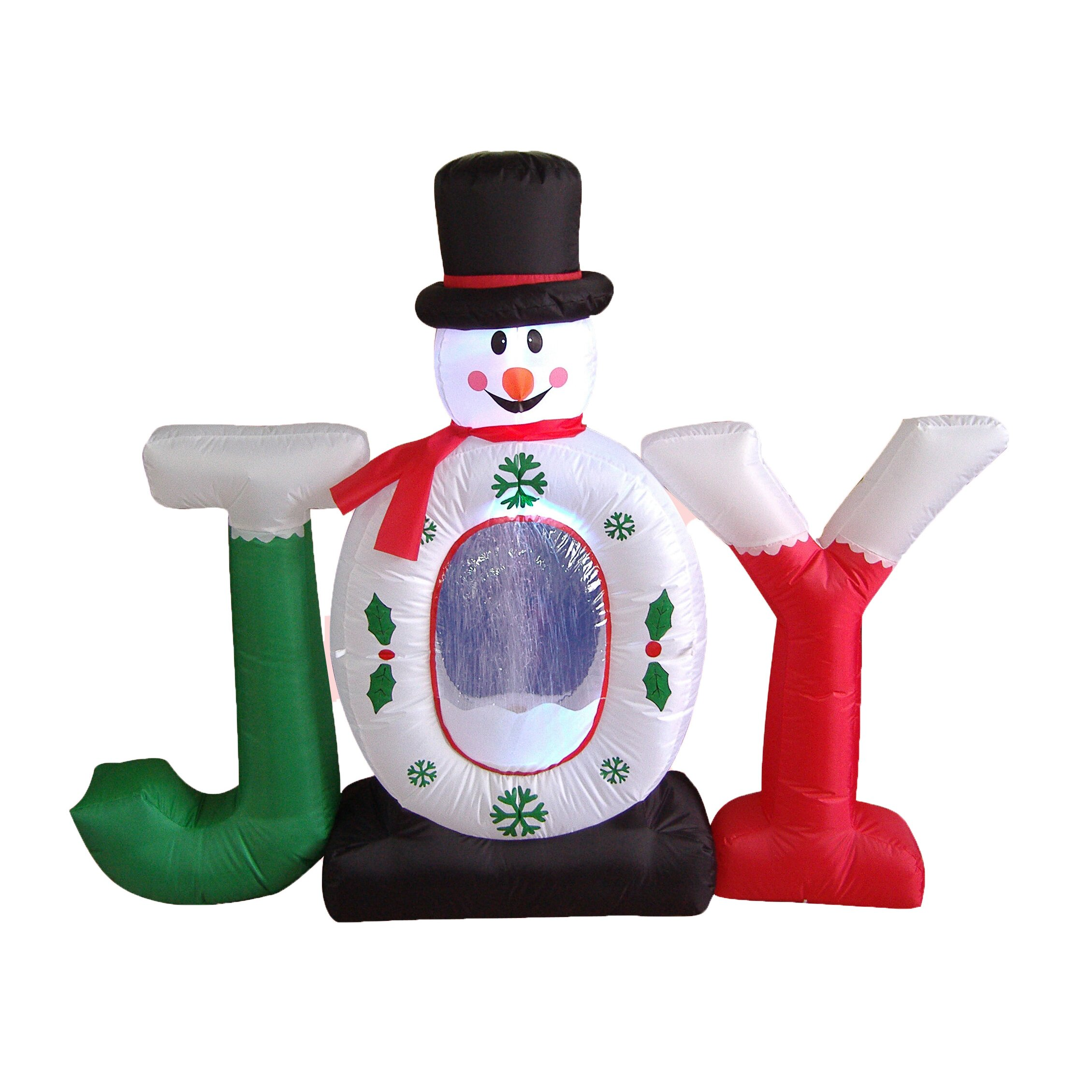 Bzb Goods Christmas Inflatable Joy Snowman Snow Globe