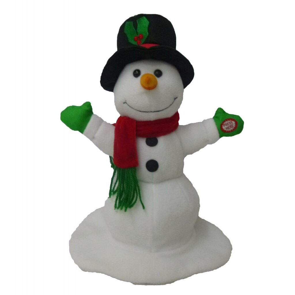 Bathroom wall art for kids - Singing Spinning Snowman Musical Plush Toy With Motion By Bzb Goods