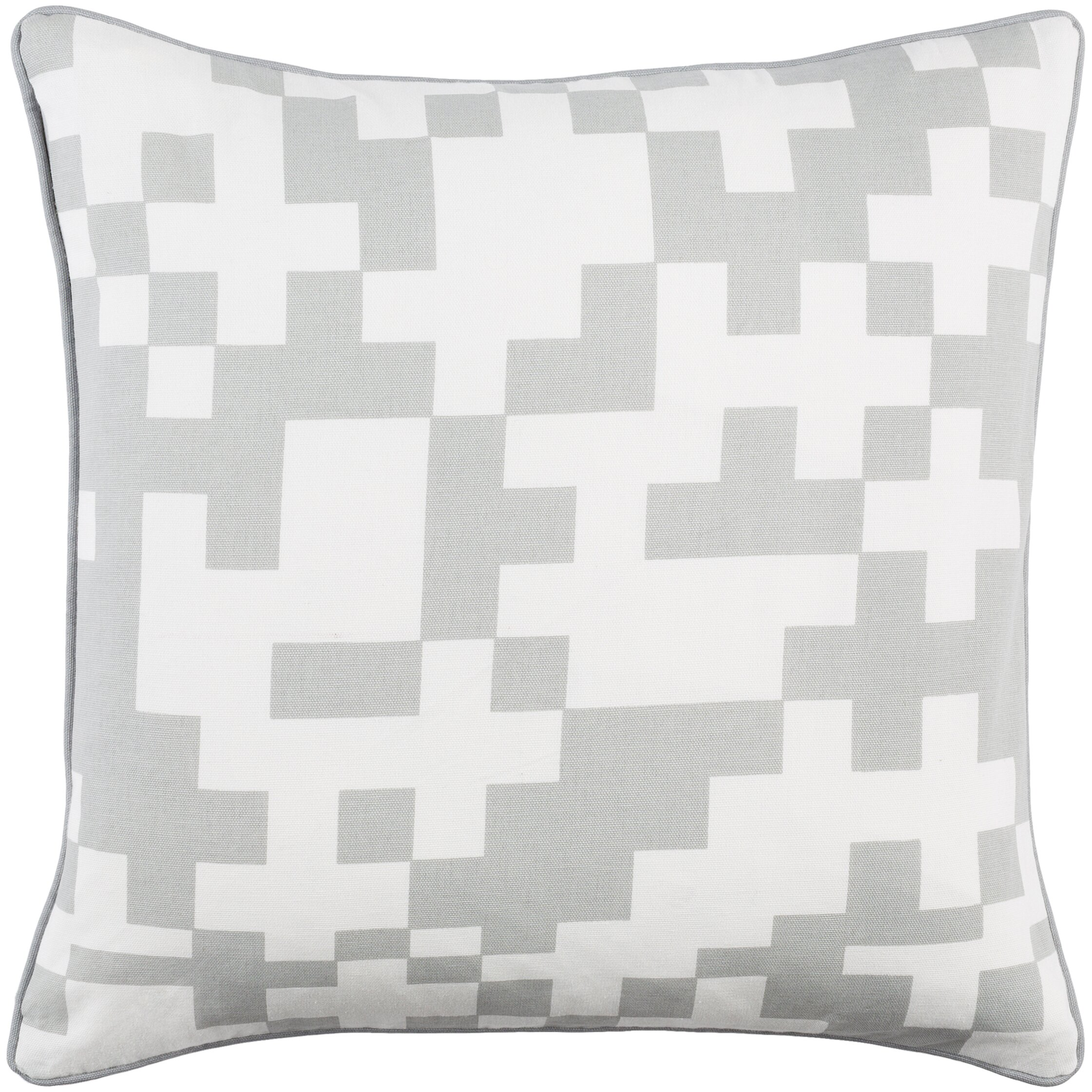 Inga Puzzle Cotton Throw Pillow Cover Wayfair.ca