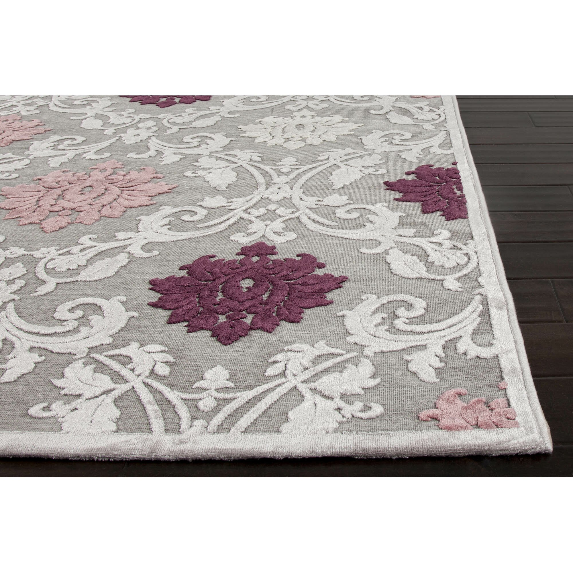 Purple And Gray Area Rugs: Fables Gray/Purple Area Rug
