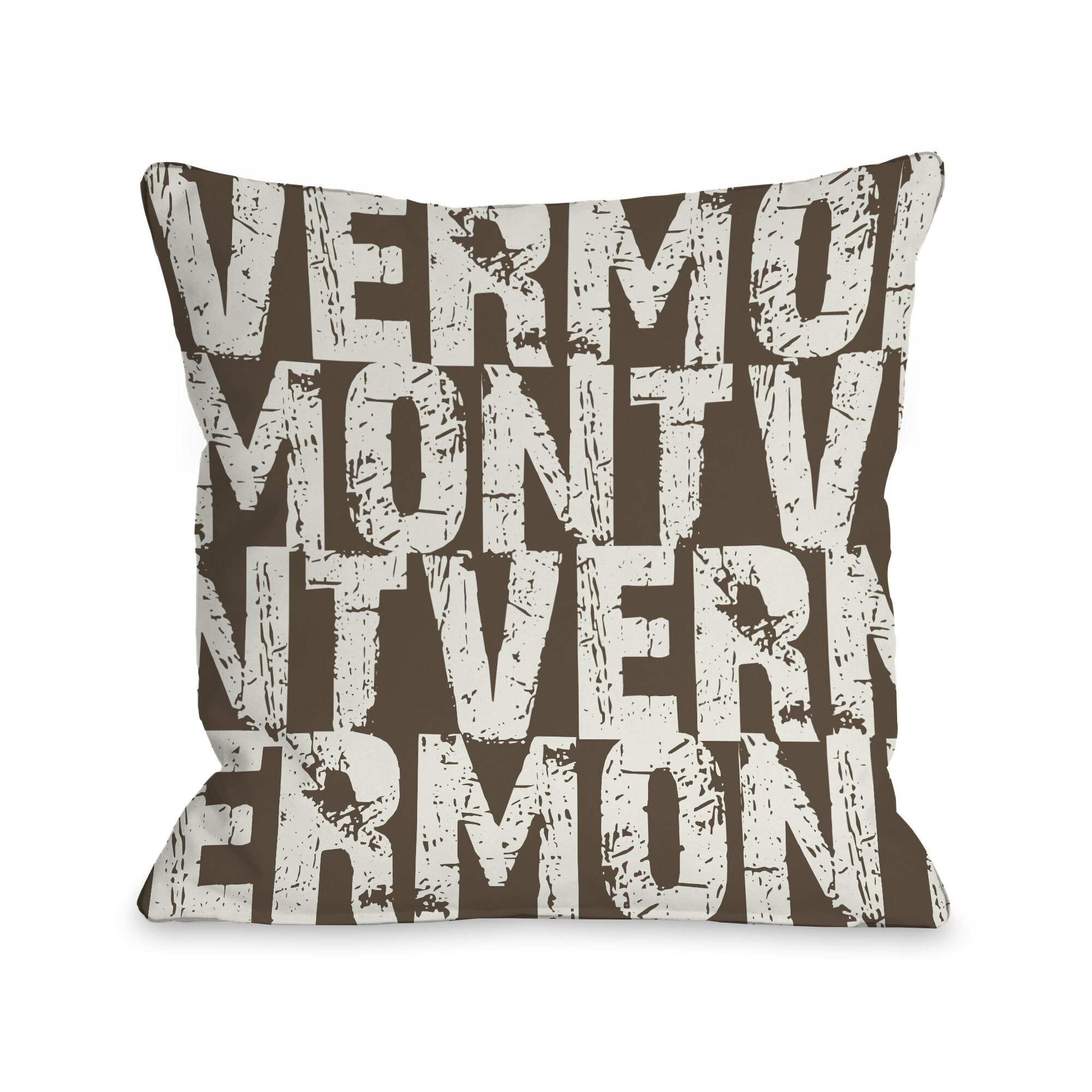 Decorative Pillows With States : One Bella Casa Vermont State Throw Pillow AllModern