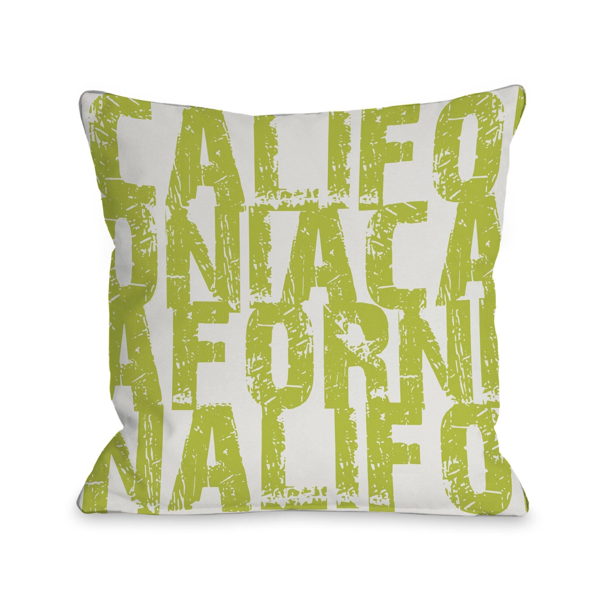 One Bella Casa California State Type Throw Pillow Allmodern