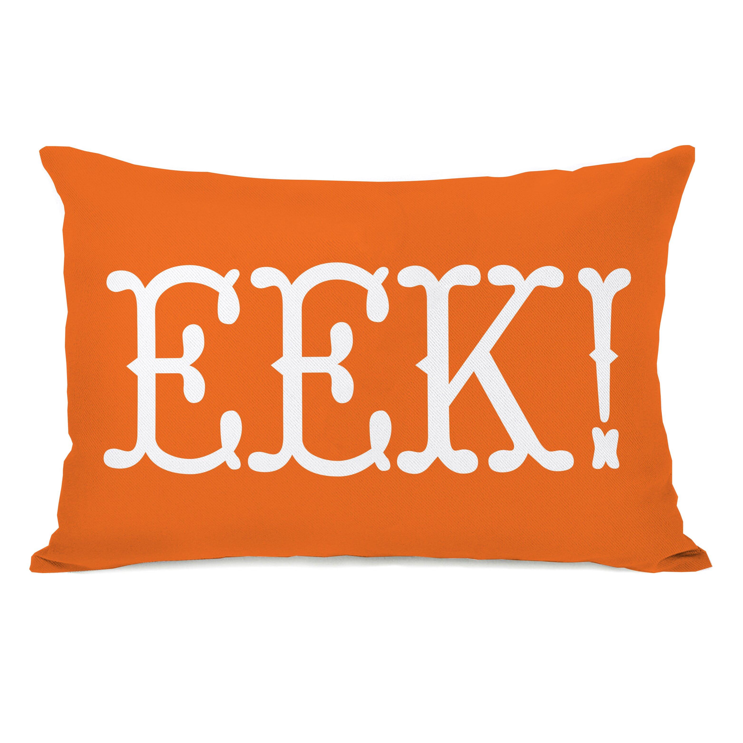 EEK Text Lumbar Pillow Wayfair