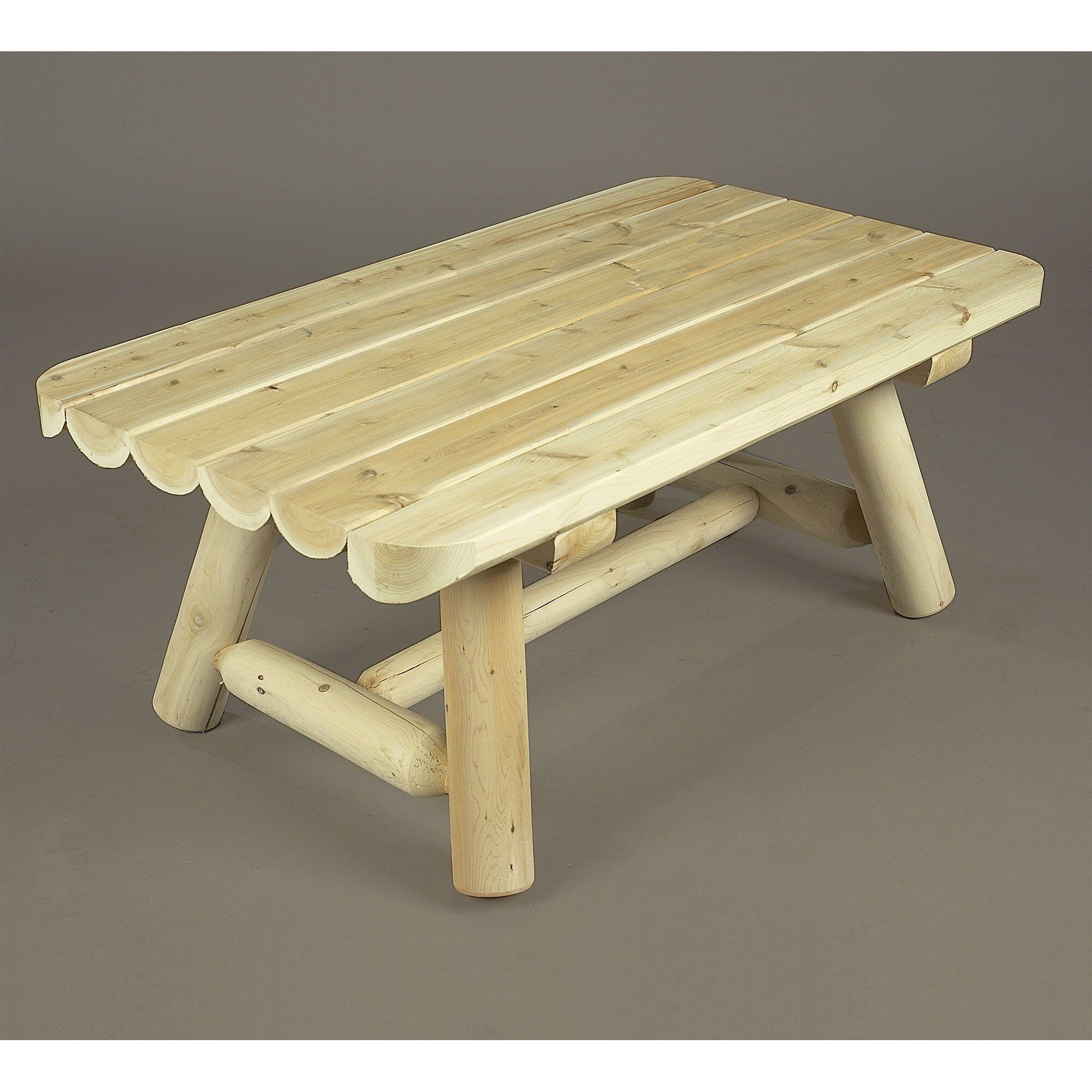 Rectangular Coffee Table: Rustic Cedar Rectangular Cedar Coffee Table & Reviews