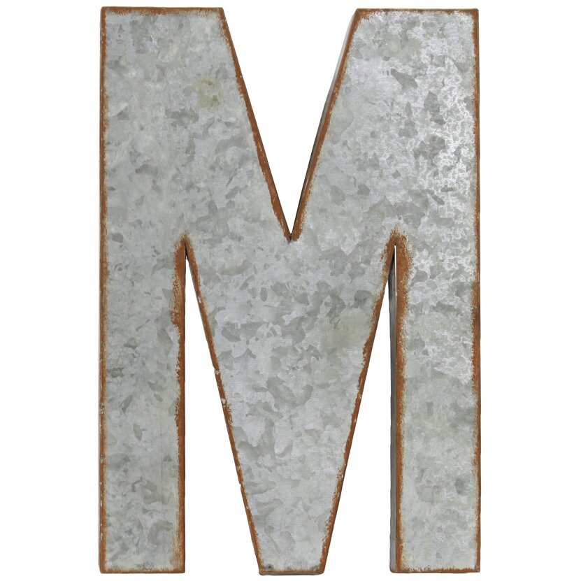 "Urban Trends Alphabet Letter ""M"" Wall Decor & Reviews"