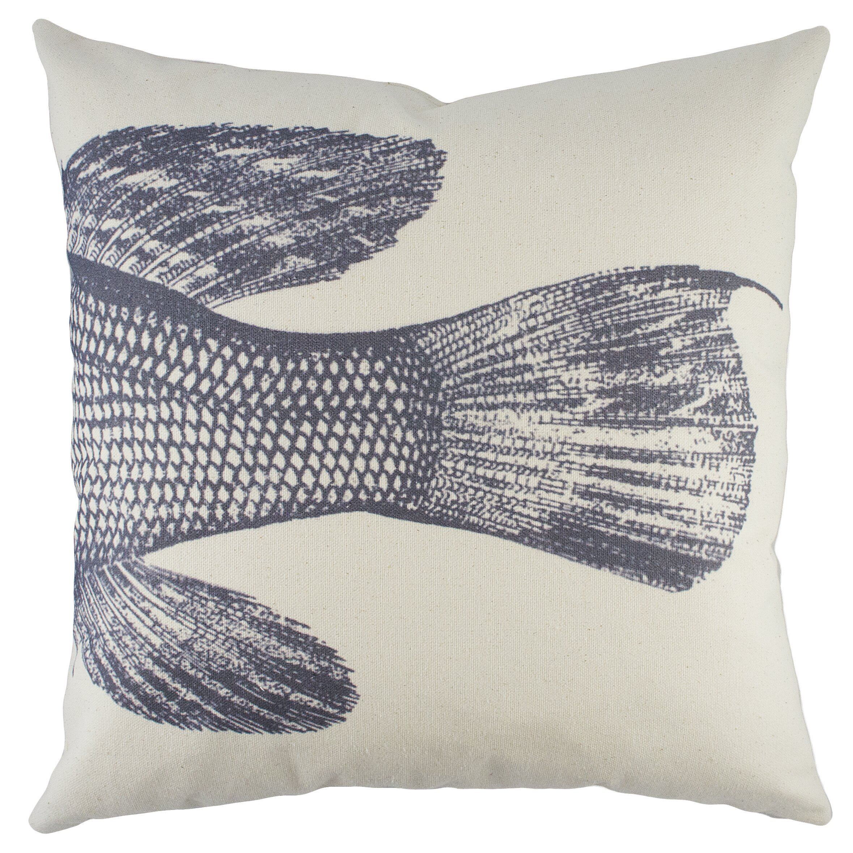 Fish cotton throw pillow wayfair for Fish throw pillows