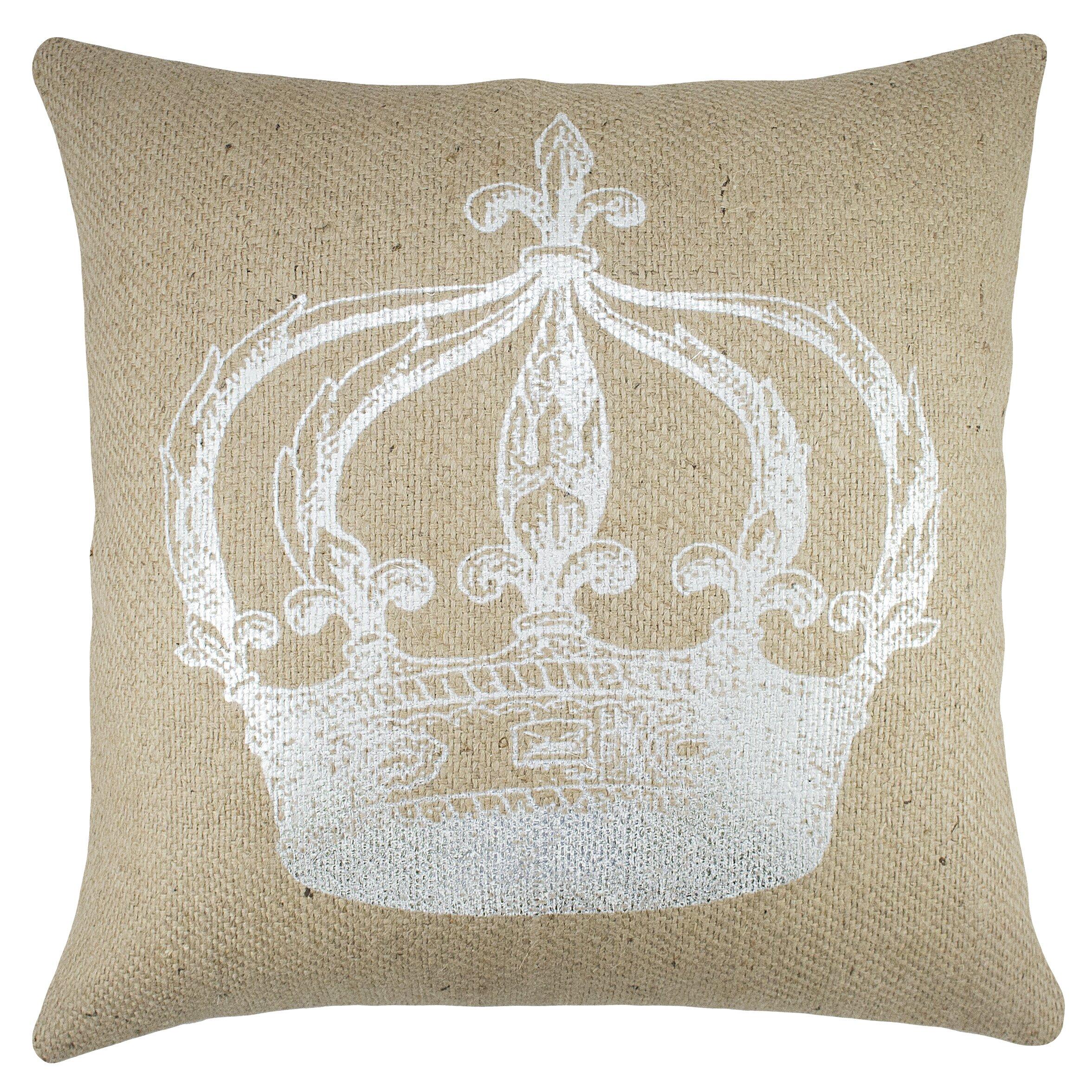 Crown Burlap Throw Pillow Wayfair.ca