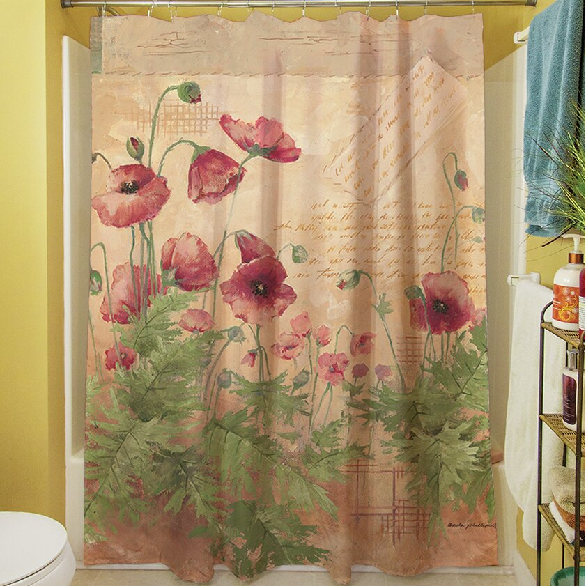 woodworkers weavers floral i shower curtain reviews wayfair