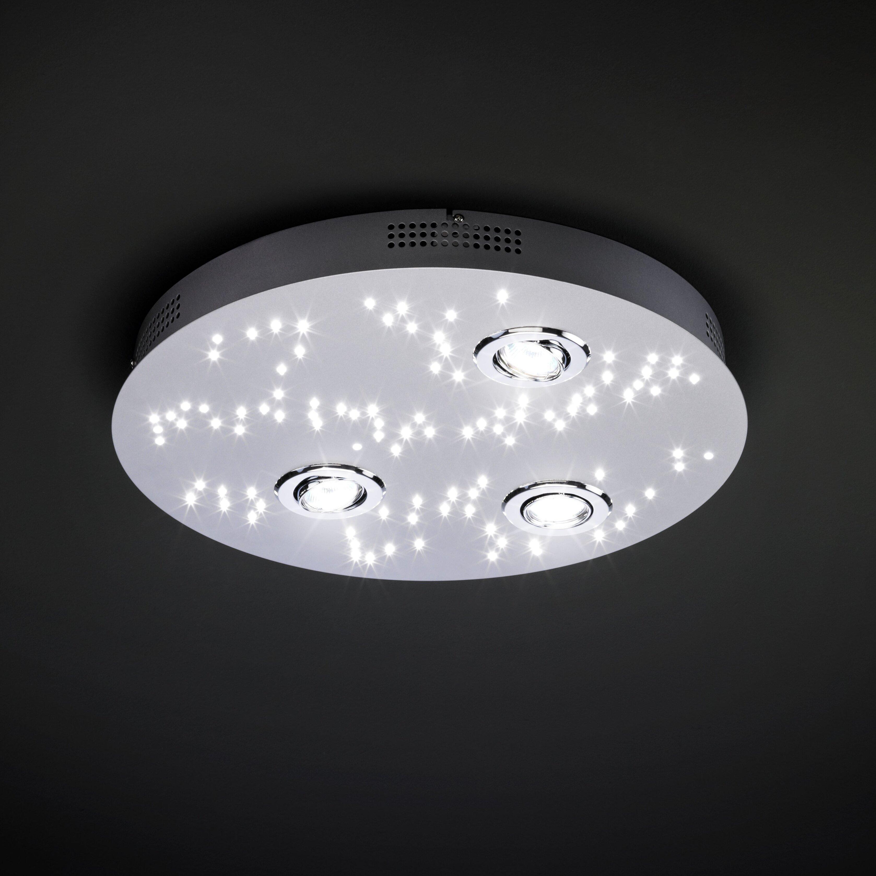 paul neuhaus night sky 103 light flush ceiling light reviews wayfair uk. Black Bedroom Furniture Sets. Home Design Ideas