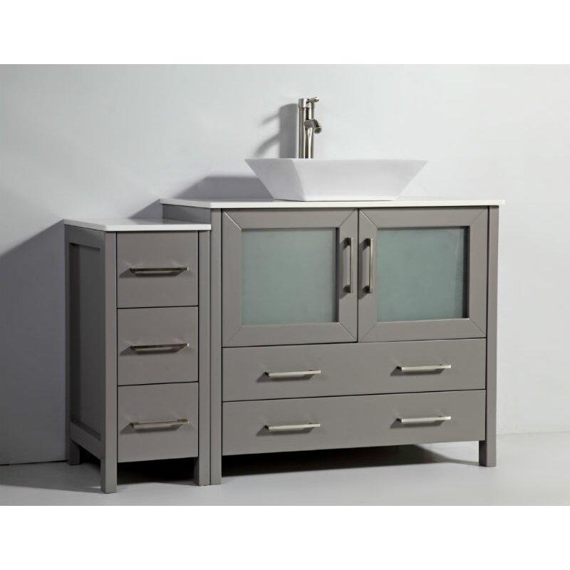48 Quot Single Bathroom Vanity Set With Mirror Wayfair
