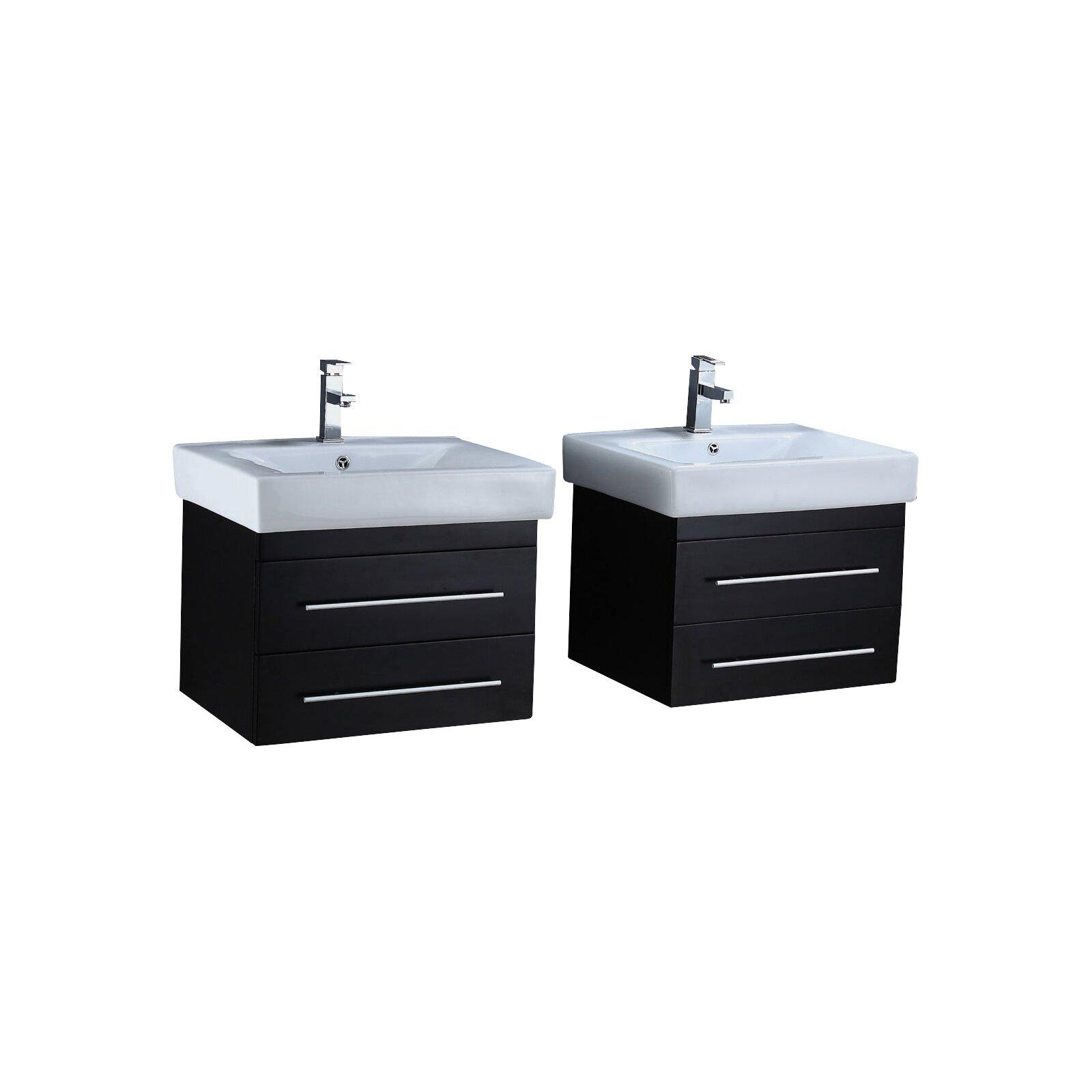 24 Floating Double Bathroom Vanity Set Wayfair