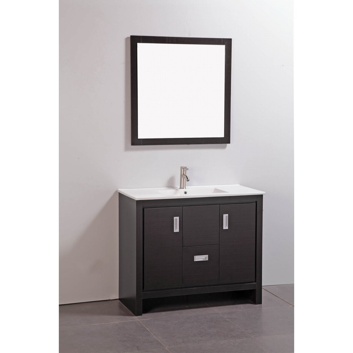 "39"" Single Bathroom Vanity Set with Mirror"