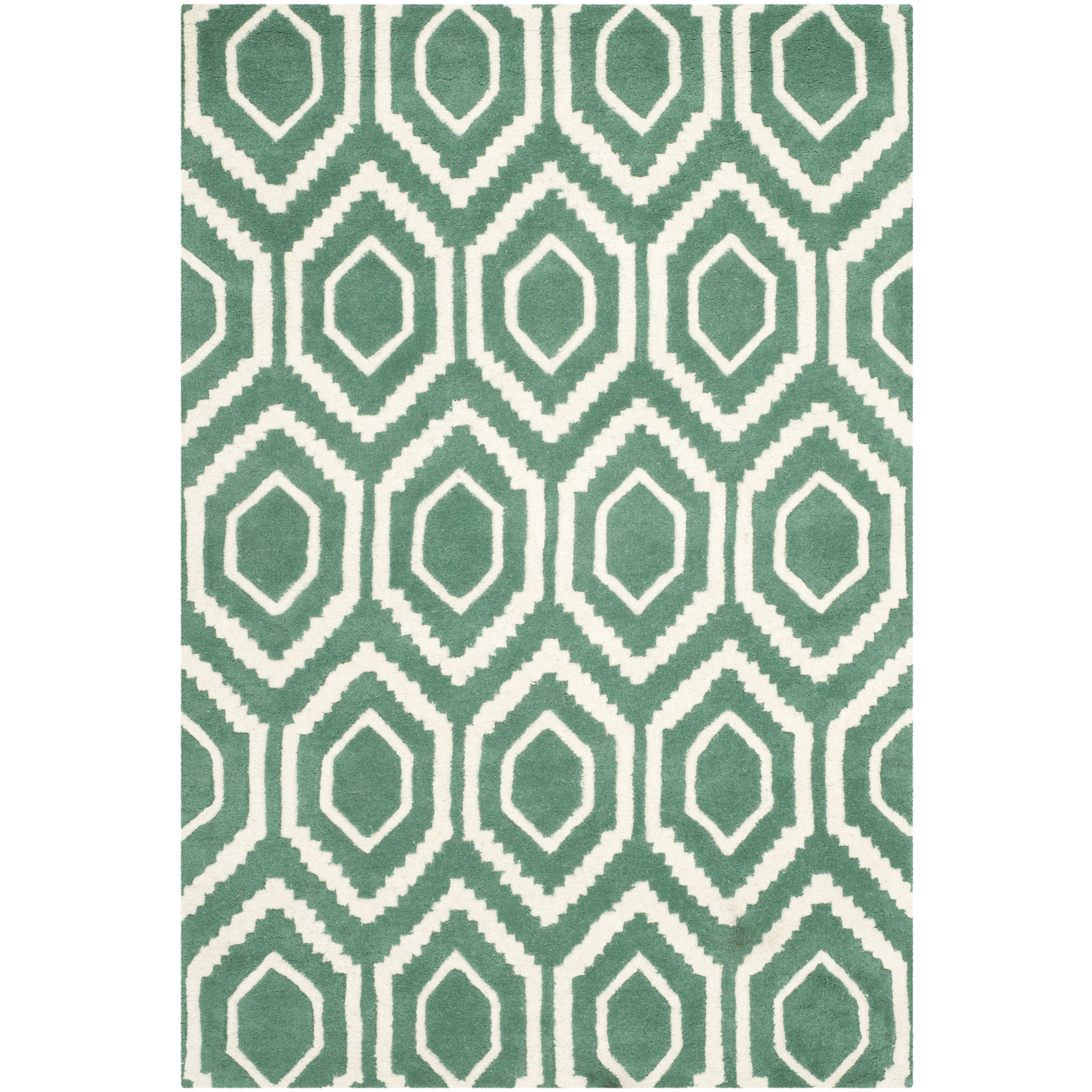 Sydney Hand-Tufted Green Area Rug