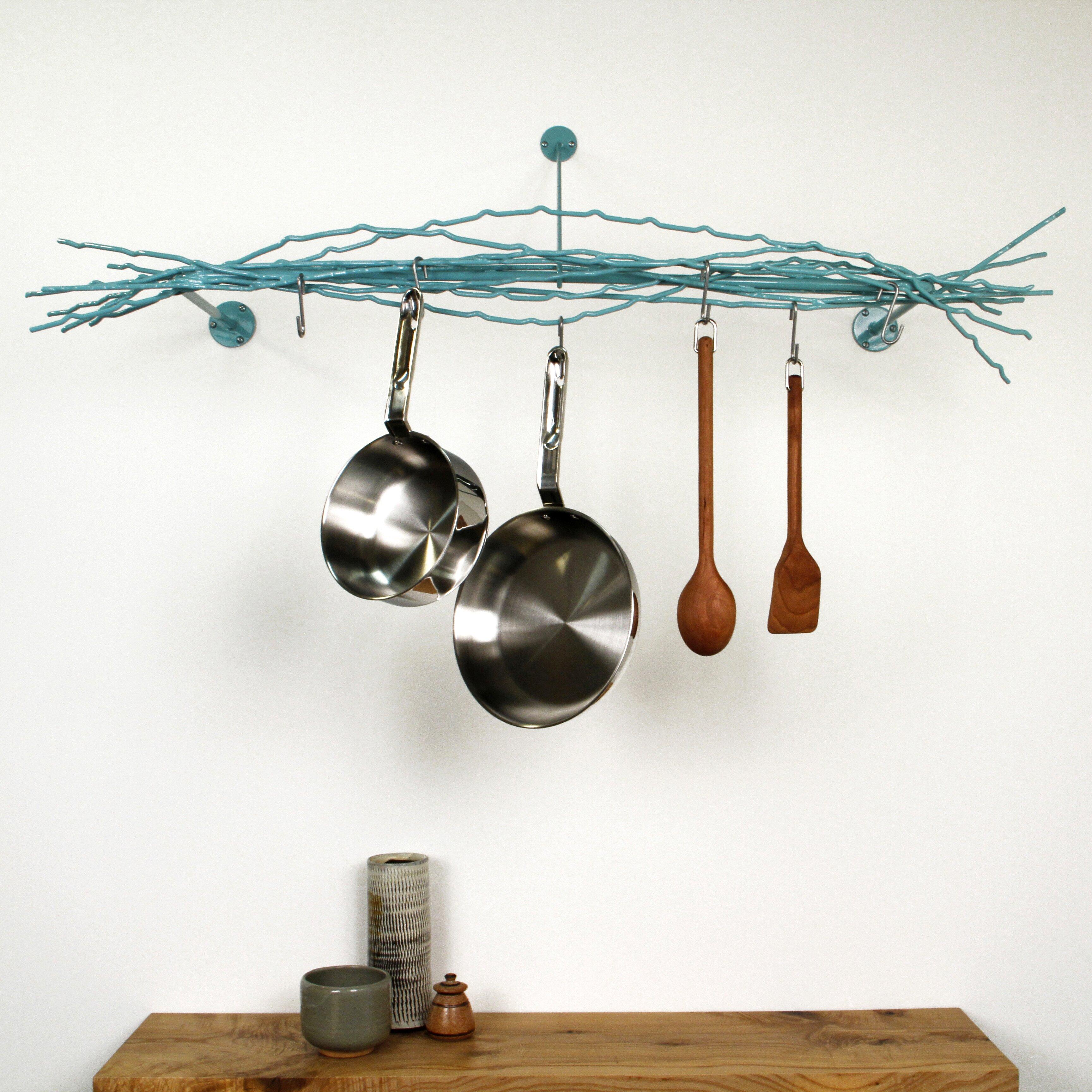 merkled studio wall mounted pot rack allmodern. Black Bedroom Furniture Sets. Home Design Ideas