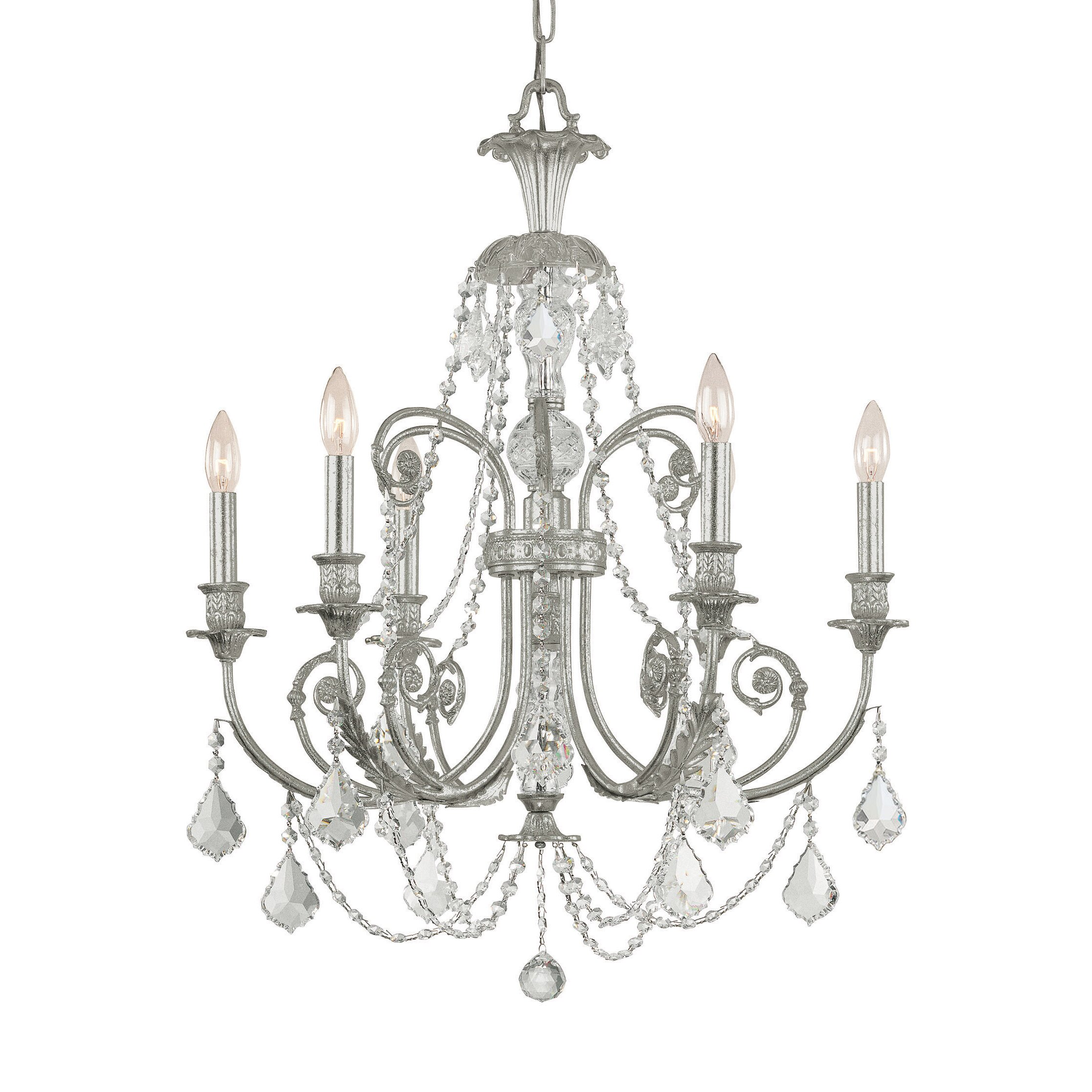 regis 6 light crystal chandelier wayfair