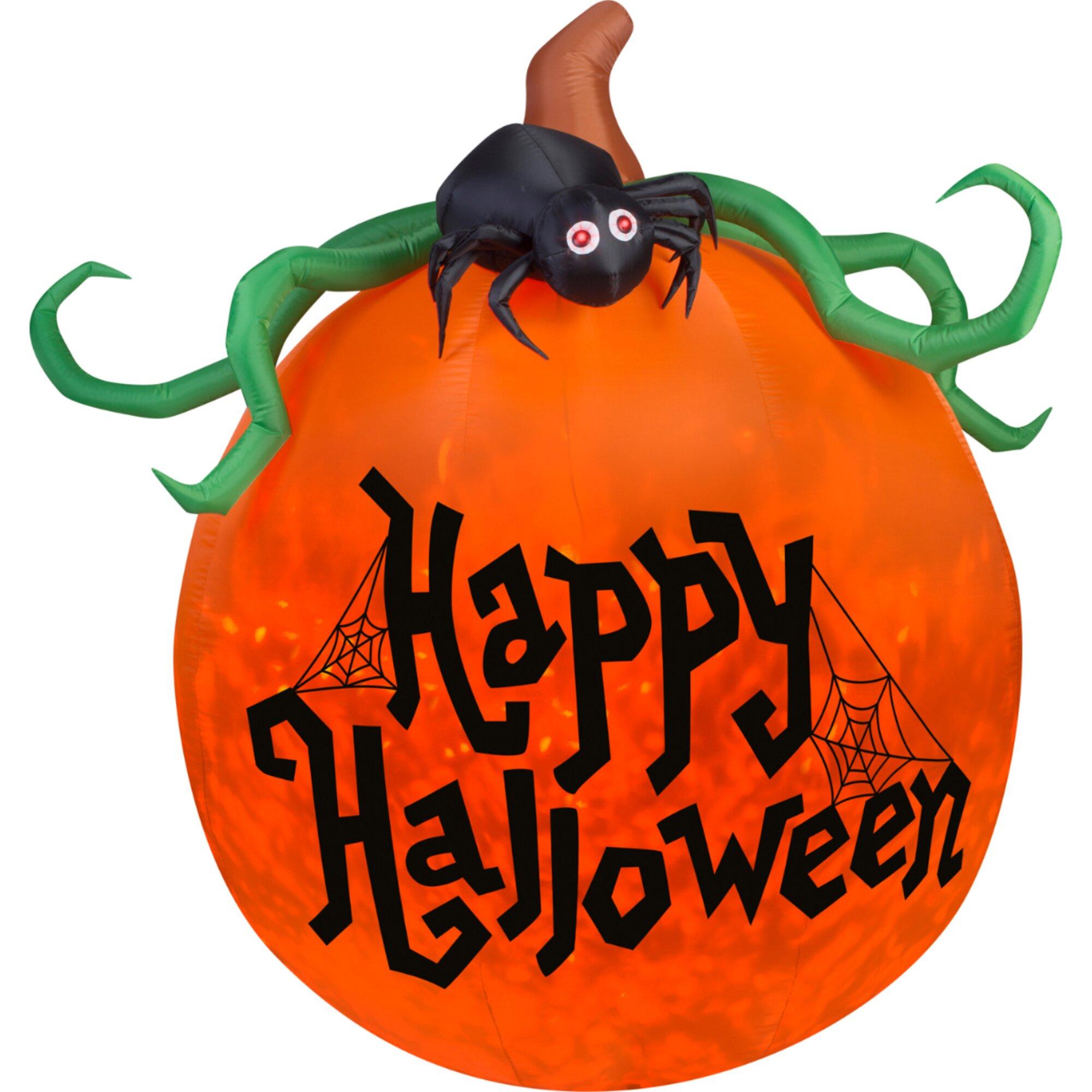Airblown inflatables projection kaleidoscope happy halloween pumpkin