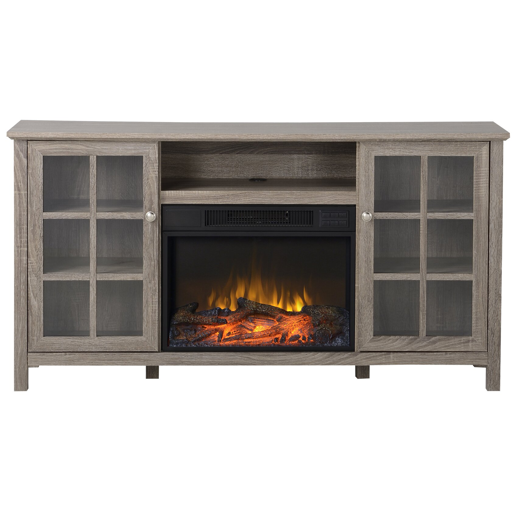 provence tv stand with electric fireplace wayfair