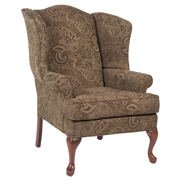 Comfort pointe paisley wing back chair reviews wayfair for Comfortable wingback chair