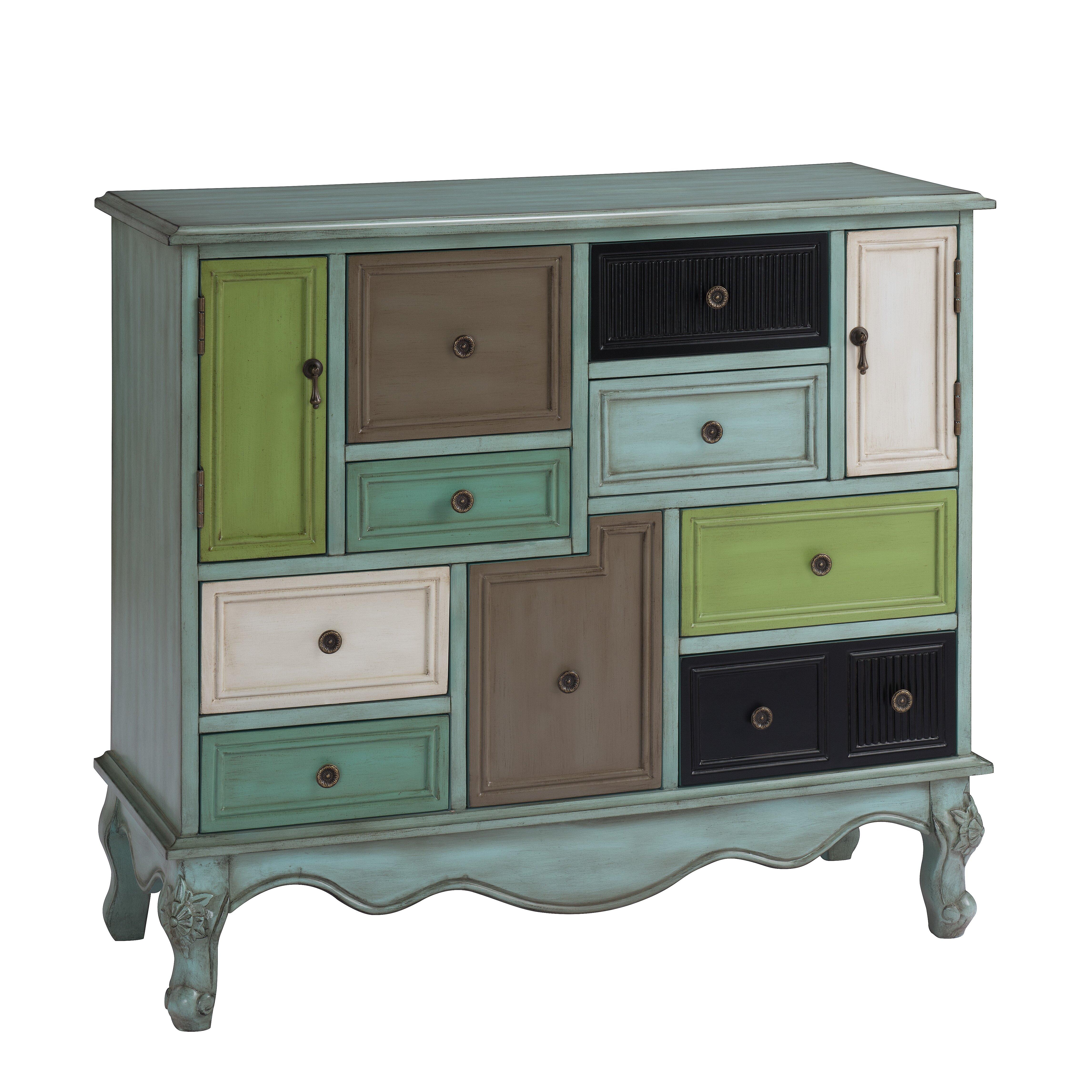 9 Drawer 2 Door Cabinet Wayfair