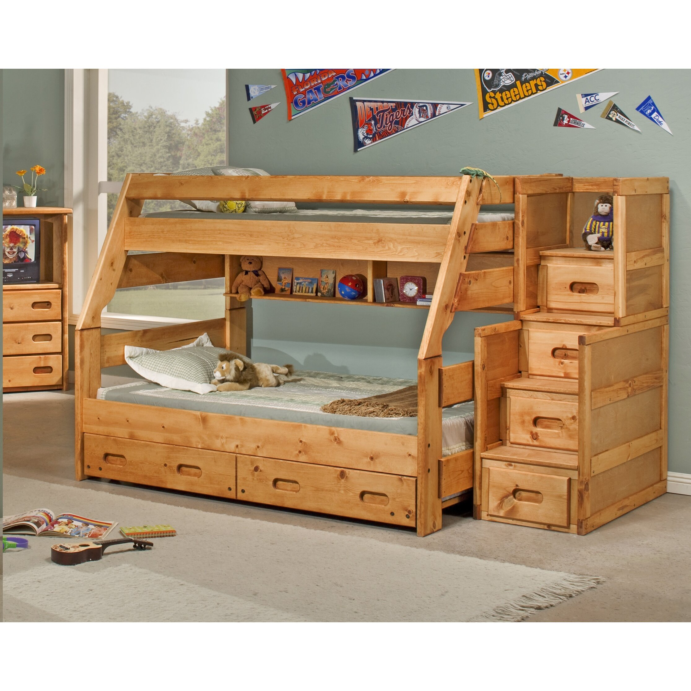 Twin Over Full Bunk Bed With Trundle Wayfair