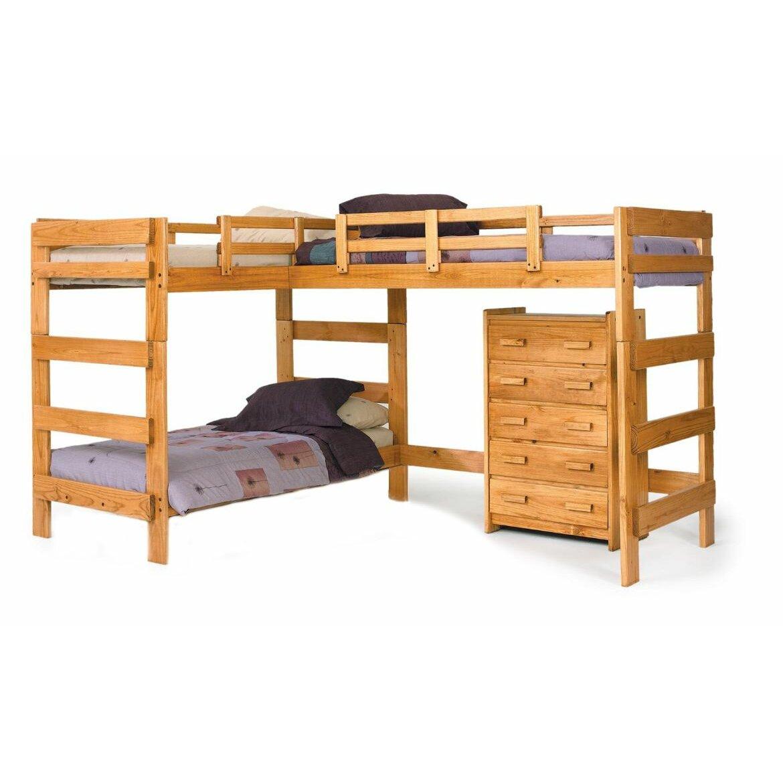 chelsea home l shaped bunk bed reviews wayfair. Black Bedroom Furniture Sets. Home Design Ideas