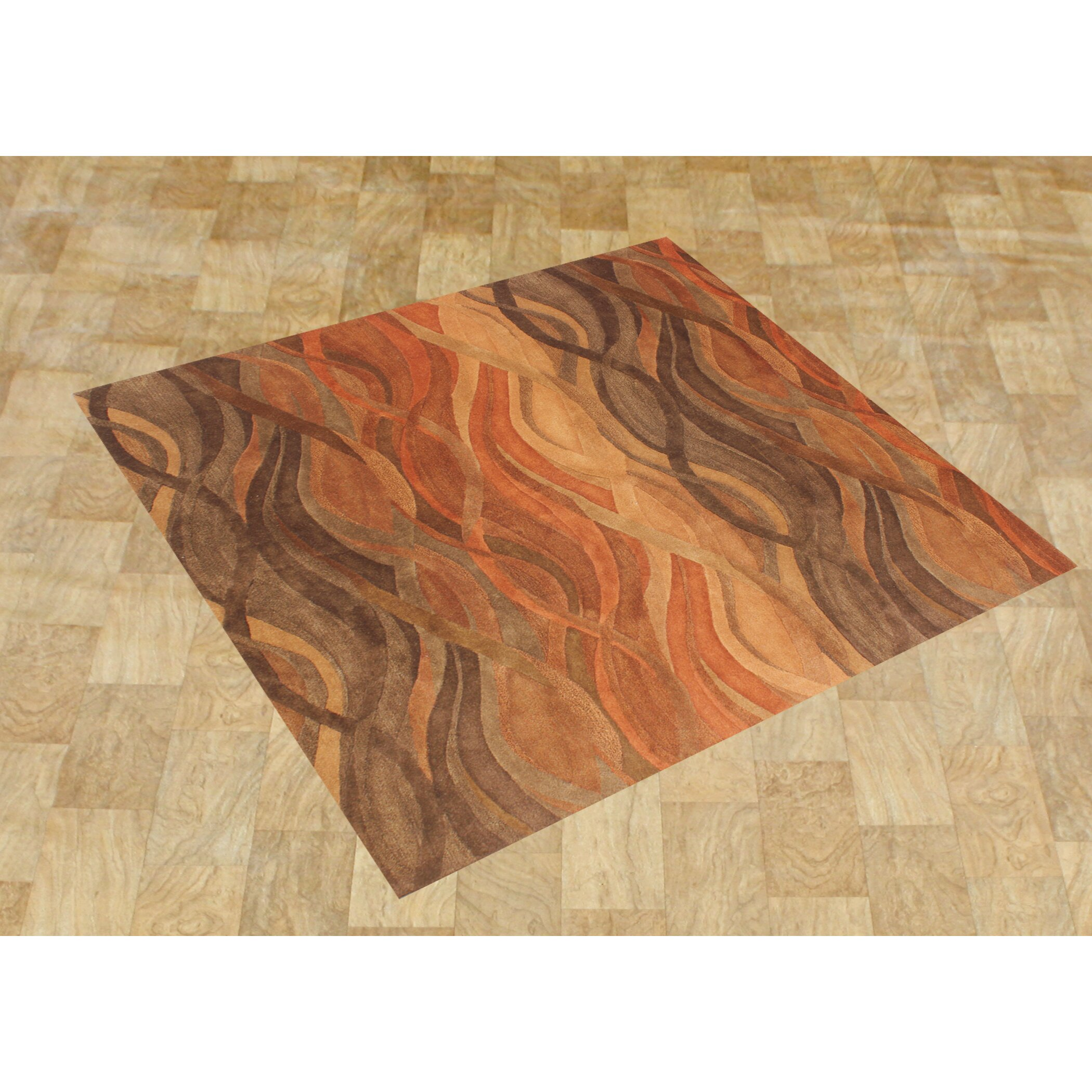 Alliyah Abstract Brown Tan Area Rug Wayfair